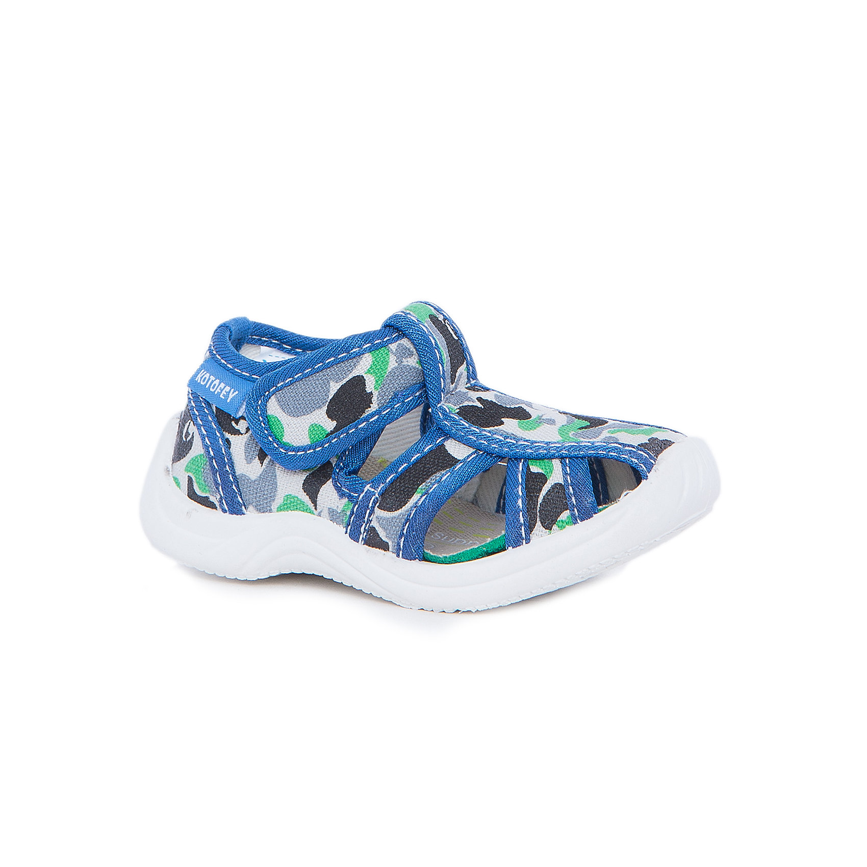 Туфли для мальчика КотофейКотофей – качественная и стильная детская обувь по доступным ценам. С каждым днем популярность бренда растет.  Летние ботиночки полюбятся всем мальчикам. Ботиночки выполнены с закрытым носком и прорезями по бокам, что делает из идеальной обувью для летних прогулок на свежем воздухе. Стильный принт и интересные детали делают образ ботиночек завершенным.  Качественные материалы позволят носить обувь все лето, не переживая за внешний вид.<br><br>Дополнительная информация:<br><br>цвет: сине-зеленый;<br>крепление: литьевое;<br>застежка: липучка;<br>температурный режим: от +15°С до +25° С.<br><br>Состав:<br>верх – текстильный материал;<br>подкладка – текстильный материал;<br>материал подошвы – ПВХ.<br><br>Летние ботиночки для мальчиков ясельного возраста из текстиля от фирмы Котофей можно приобрести у нас в магазине.<br><br>Ширина мм: 227<br>Глубина мм: 145<br>Высота мм: 124<br>Вес г: 325<br>Цвет: разноцветный<br>Возраст от месяцев: 18<br>Возраст до месяцев: 21<br>Пол: Мужской<br>Возраст: Детский<br>Размер: 23,21,25,22,20,24<br>SKU: 4982302
