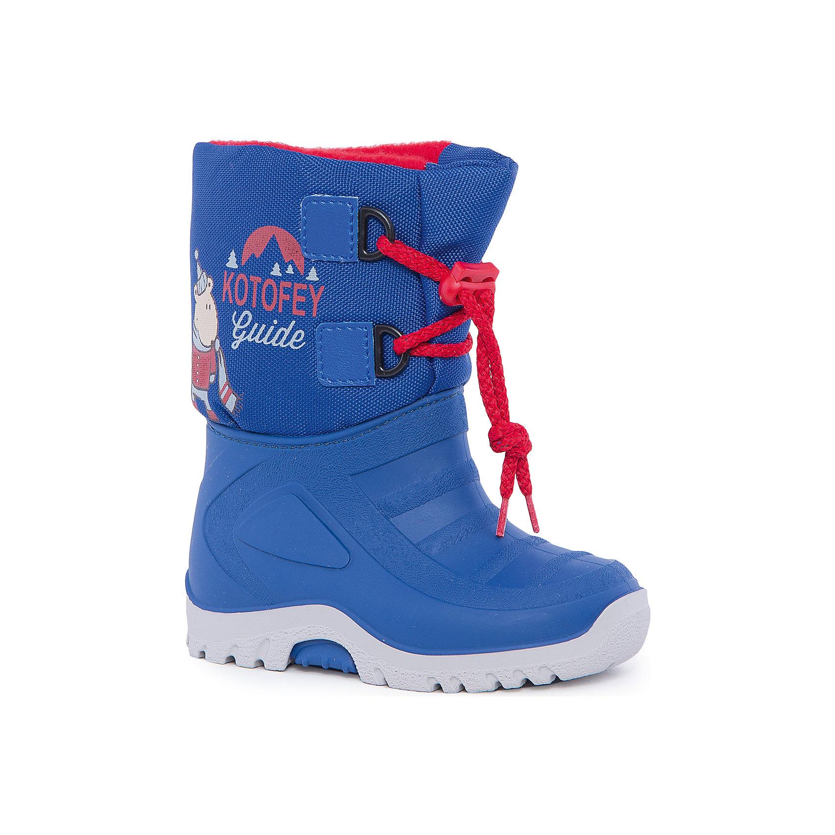Сноубутсы для мальчика КотофейСноубутсы<br>Котофей – качественная и стильная детская обувь по доступным ценам. С каждым днем популярность бренда растет.  При выборе обуви важно следить, чтобы модель была не только красивой и удобной, то и теплой, а так же защищала ножки малыша от промокания. Сочетание резиновых сапог и теплых зимних ботинок создало уникальную модель из новой коллекции.<br><br>Дополнительная информация:<br><br>цвет: синий;<br>вид крепления: прошивной;<br>застежка: шнуровка с креплением;<br>температурный режим: от -15 °С до +5° С.<br><br>Состав:<br>материал верха – комбинированный;<br>подкладка – мех шерстяной;<br>подошва – мегол.<br><br>Зимние сапожки из прочных и качественных материалов для мальчика ясельного возраста от фирмы Котофей можно приобрести у нас в магазине.<br><br>Ширина мм: 257<br>Глубина мм: 180<br>Высота мм: 130<br>Вес г: 420<br>Цвет: синий<br>Возраст от месяцев: 12<br>Возраст до месяцев: 18<br>Пол: Мужской<br>Возраст: Детский<br>Размер: 21/22,25/26,23/24<br>SKU: 4982353