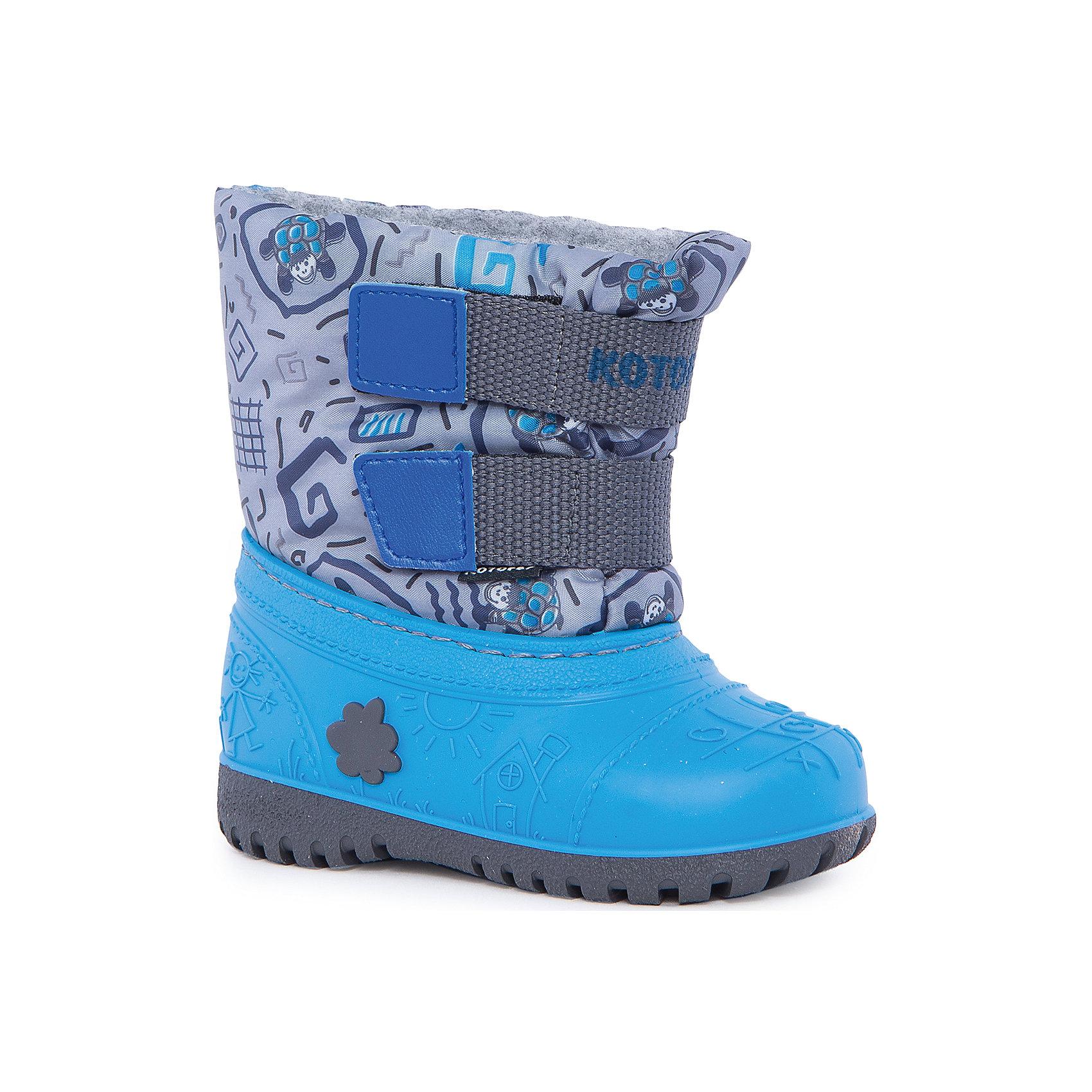 Сапоги для мальчика КотофейРезиновые сапоги<br>Котофей – качественная и стильная детская обувь по доступным ценам. С каждым днем популярность бренда растет.  При выборе обуви важно следить, чтобы модель была не только красивой и удобной, то и теплой, а так же защищала ножки малыша от промокания. Сочетание резиновых сапог и теплых зимних ботинок создало уникальную модель из новой коллекции.<br><br>Дополнительная информация:<br><br>цвет: серо-голубой;<br>вид крепления: прошивной;<br>застежка: липучка;<br>температурный режим: от -15 °С до +5° С.<br><br>Состав:<br>материал верха – комбинированный;<br>подкладка – мех шерстяной;<br>подошва – мегол.<br><br>Зимние сапожки из прочных и качественных материалов для мальчика ясельного возраста от фирмы Котофей можно приобрести у нас в магазине.<br><br>Ширина мм: 257<br>Глубина мм: 180<br>Высота мм: 130<br>Вес г: 420<br>Цвет: сине-серый<br>Возраст от месяцев: 24<br>Возраст до месяцев: 36<br>Пол: Мужской<br>Возраст: Детский<br>Размер: 25/26,21/22,23/24<br>SKU: 4982365