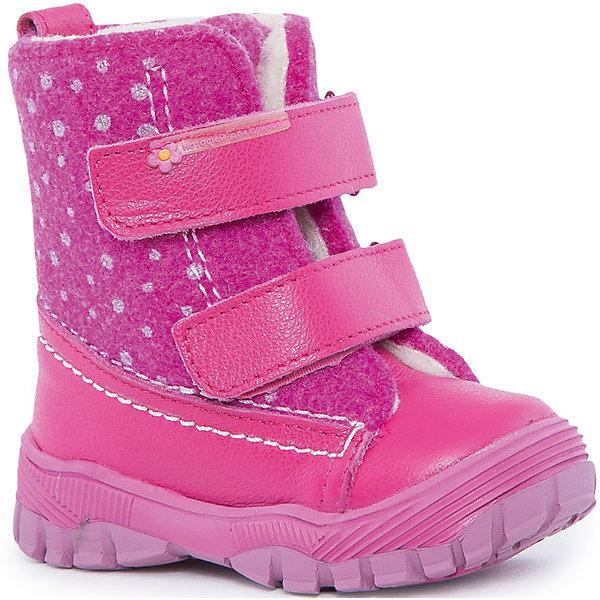 Ботинки для девочки КотофейБотинки<br>Котофей – качественная и стильная детская обувь по доступным ценам. С каждым днем популярность бренда растет.  С наступлением зимних холодов очень важно выбрать удобную и теплую обувь, которая защитит ножки малыша от промокания, а здоровье от простуды. Стильные ботиночки придутся по душе всем родителям, стремящимся модно одевать свою кроху, а малышки оценят удобную застежку – липу, которая экономит время при обувании ботиночек. Модель надежно защищает от непогоды и создает стильный образ малышу.<br><br>Дополнительная информация:<br><br>цвет: фуксия;<br>вид крепления: на клею;<br>застежка: липучка;<br>температурный режим: от -15 °С до +5° С.<br><br>Состав:<br>материл верха – комбинированный;<br>подклад – мех шерстяной;<br>подошва – ТЭП.<br><br>Зимние ботиночки для девочек ясельного возраста от фирмы Котофей можно купить у нас в магазине.<br><br>Ширина мм: 262<br>Глубина мм: 176<br>Высота мм: 97<br>Вес г: 427<br>Цвет: розовый<br>Возраст от месяцев: 21<br>Возраст до месяцев: 24<br>Пол: Женский<br>Возраст: Детский<br>Размер: 23,26,25,22,21,24<br>SKU: 4982396