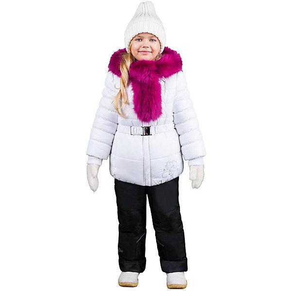 Комплект: куртка и брюки для девочки BOOM by OrbyВерхняя одежда<br>Характеристики изделия:<br><br>- комплектация: куртка, комбинезон, муфта;<br>- материал верха: мягкая болонь;<br>- подкладка: ПЭ, флис;<br>- утеплитель: Flexy Fiber 400 г/м2, <br>- отделка: вязаное полотно, искусственный мех;<br>- фурнитура: металл, пластик;<br>- застежка: молния;<br>- воротник;<br>- защита подбородка;<br>- клапан от ветра;<br>- вышивка на куртке;<br>- температурный режим до -30°С<br><br><br>В холодный сезон девочки хотят одеваться не только тепло, но и модно. Этот стильный и теплый комплект позволит ребенку наслаждаться зимним отдыхом, не боясь замерзнуть, и выглядеть при этом очень симпатично.<br>Теплая куртка плотно сидит благодаря манжетам и надежным застежкам. Она смотрится очень эффектно благодаря пушистому воротнику. Полукомбинезон дополнен регулируемыми лямками, карманами и манжетами.<br><br>Комплект: курта и брюки для девочки от бренда BOOM by Orby можно купить в нашем магазине.<br>Ширина мм: 215; Глубина мм: 88; Высота мм: 191; Вес г: 336; Цвет: белый; Возраст от месяцев: 12; Возраст до месяцев: 18; Пол: Женский; Возраст: Детский; Размер: 86,122,92,104,110,116,98; SKU: 4982500;