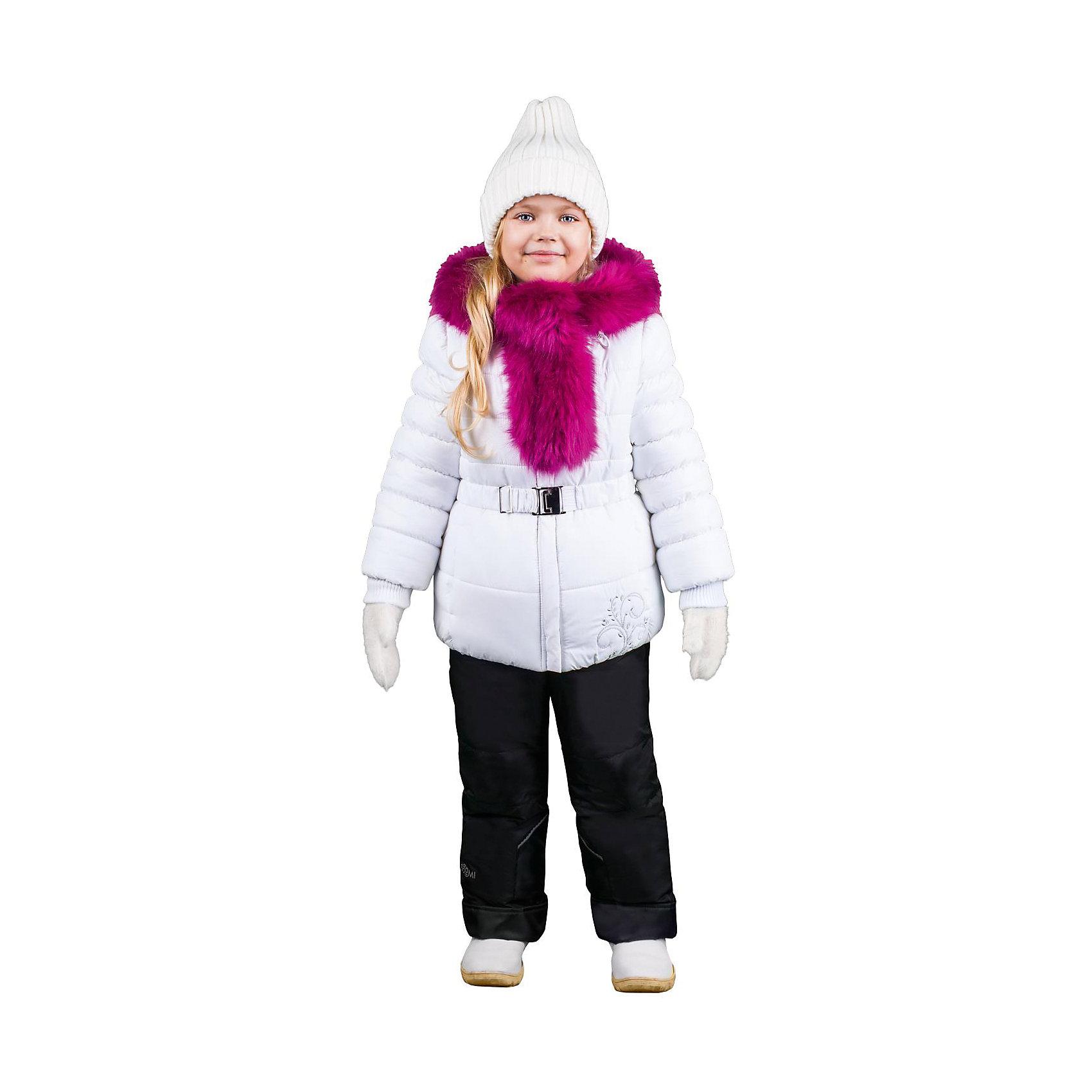 Комплект: куртка и брюки для девочки BOOM by OrbyВерхняя одежда<br>Характеристики изделия:<br><br>- комплектация: куртка, комбинезон, муфта;<br>- материал верха: мягкая болонь;<br>- подкладка: ПЭ, флис;<br>- утеплитель: Flexy Fiber 400 г/м2, <br>- отделка: вязаное полотно, искусственный мех;<br>- фурнитура: металл, пластик;<br>- застежка: молния;<br>- воротник;<br>- защита подбородка;<br>- клапан от ветра;<br>- вышивка на куртке;<br>- температурный режим до -30°С<br><br><br>В холодный сезон девочки хотят одеваться не только тепло, но и модно. Этот стильный и теплый комплект позволит ребенку наслаждаться зимним отдыхом, не боясь замерзнуть, и выглядеть при этом очень симпатично.<br>Теплая куртка плотно сидит благодаря манжетам и надежным застежкам. Она смотрится очень эффектно благодаря пушистому воротнику. Полукомбинезон дополнен регулируемыми лямками, карманами и манжетами.<br><br>Комплект: курта и брюки для девочки от бренда BOOM by Orby можно купить в нашем магазине.<br><br>Ширина мм: 215<br>Глубина мм: 88<br>Высота мм: 191<br>Вес г: 336<br>Цвет: белый<br>Возраст от месяцев: 48<br>Возраст до месяцев: 60<br>Пол: Женский<br>Возраст: Детский<br>Размер: 110,116,104,92,122,86,98<br>SKU: 4982500