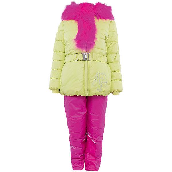 Комплект: куртка и брюки для девочки BOOM by OrbyВерхняя одежда<br>Характеристики изделия:<br><br>- комплектация: куртка, комбинезон, муфта;<br>- материал верха: мягкая болонь;<br>- подкладка: ПЭ, флис;<br>- утеплитель: Flexy Fiber 400 г/м2, <br>- отделка: вязаное полотно, искусственный мех;<br>- фурнитура: металл, пластик;<br>- застежка: молния;<br>- воротник;<br>- защита подбородка;<br>- клапан от ветра;<br>- вышивка на куртке;<br>- температурный режим до -30°С<br><br><br>В холодный сезон девочки хотят одеваться не только тепло, но и модно. Этот стильный и теплый комплект позволит ребенку наслаждаться зимним отдыхом, не боясь замерзнуть, и выглядеть при этом очень симпатично.<br>Теплая куртка плотно сидит благодаря манжетам и надежным застежкам. Она смотрится очень эффектно благодаря пушистому воротнику. Полукомбинезон дополнен регулируемыми лямками, карманами и манжетами.<br><br>Комплект: курта и брюки для девочки от бренда BOOM by Orby можно купить в нашем магазине.<br>Ширина мм: 215; Глубина мм: 88; Высота мм: 191; Вес г: 336; Цвет: зеленый; Возраст от месяцев: 18; Возраст до месяцев: 24; Пол: Женский; Возраст: Детский; Размер: 92,122,110,104,116,86,98; SKU: 4982508;