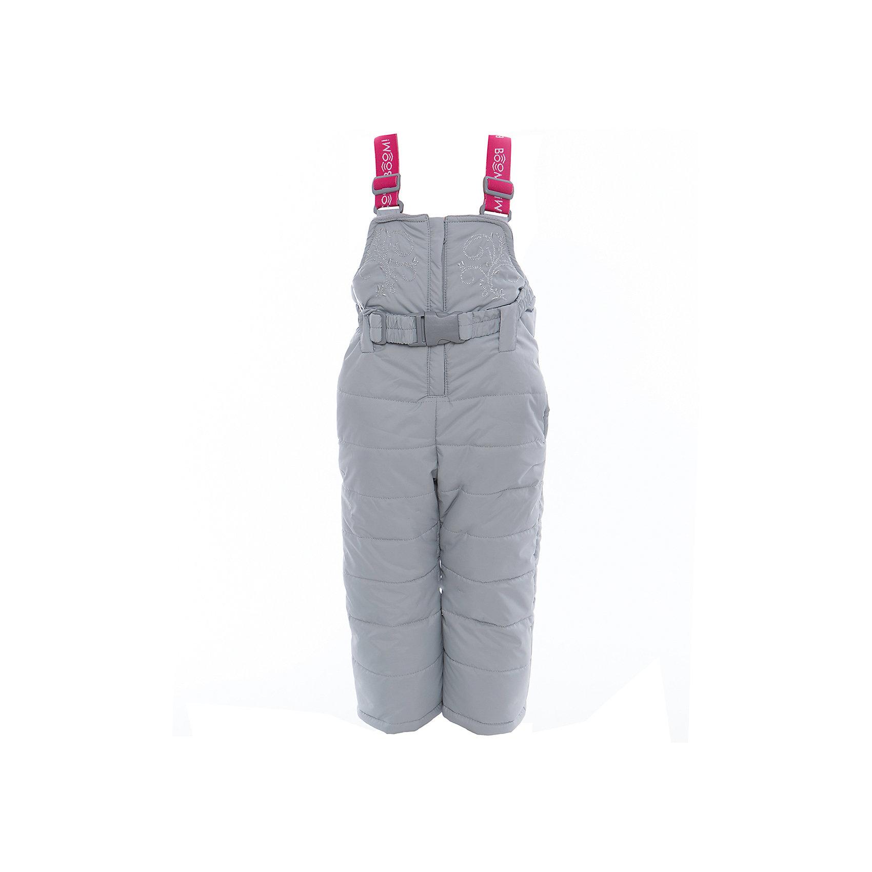 Полукомбинезон для девочки BOOM by OrbyВерхняя одежда<br>Характеристики изделия:<br><br>- материа л верха: 100% полиэстер;;<br>- подкладка: ПЭ, флис;<br>- утеплитель: эко-синтепон 200 г/м2; <br>- фурнитура: металл, пластик;<br>- застежка: молния;<br>- регулируемые лямки;<br>- эластичный пояс;<br>- вышивка;<br>- температурный режим до -30°С<br><br>В холодный сезон девочки хотят одеваться не только тепло, но и модно. Этот стильный и теплый полукомбинезон позволит ребенку наслаждаться зимним отдыхом, не боясь замерзнуть, и выглядеть при этом очень симпатично.<br>Изделие плотно сидит благодаря продуманному крою и надежным застежкам. Оно смотрится очень эффектно благодаря красивой вышивке. Полукомбинезон дополнен карманами и эластичным поясом.<br><br>Полукомбинезон для девочки от бренда BOOM by Orby можно купить в нашем магазине.<br><br>Ширина мм: 215<br>Глубина мм: 88<br>Высота мм: 191<br>Вес г: 336<br>Цвет: серый<br>Возраст от месяцев: 12<br>Возраст до месяцев: 15<br>Пол: Женский<br>Возраст: Детский<br>Размер: 80,128,110,134,122,98,92,104,116,86<br>SKU: 4982636