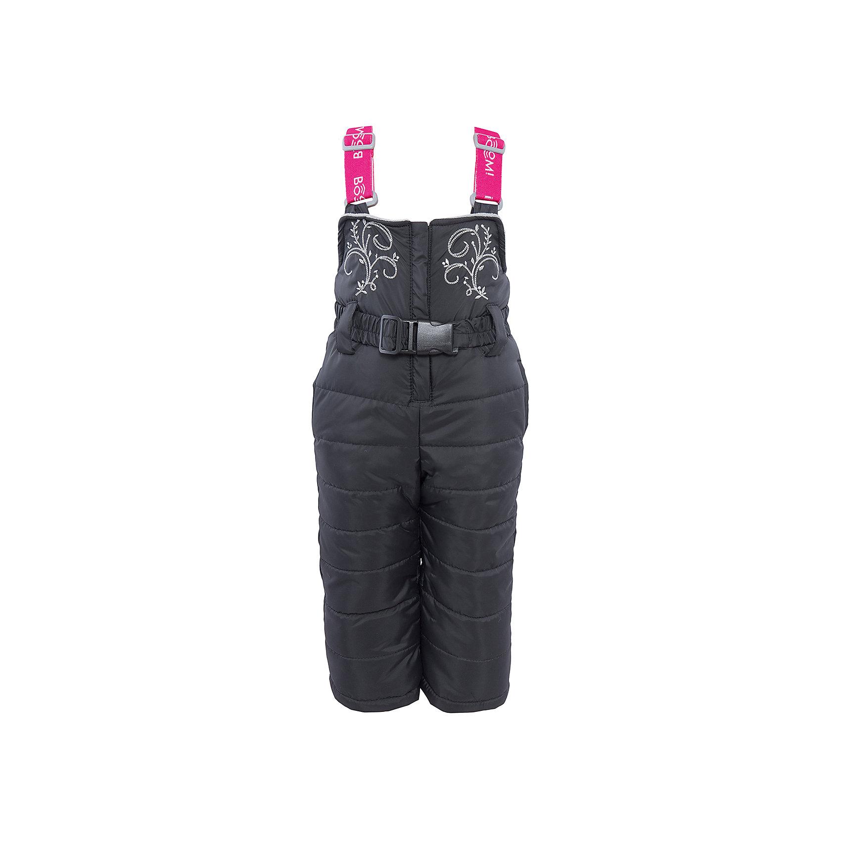 Полукомбинезон для девочки BOOM by OrbyВерхняя одежда<br>Характеристики изделия:<br><br>- материа л верха: 100% полиэстер;;<br>- подкладка: ПЭ, флис;<br>- утеплитель: эко-синтепон 200 г/м2; <br>- фурнитура: металл, пластик;<br>- застежка: молния;<br>- регулируемые лямки;<br>- эластичный пояс;<br>- вышивка;<br>- температурный режим до -30°С<br><br>В холодный сезон девочки хотят одеваться не только тепло, но и модно. Этот стильный и теплый полукомбинезон позволит ребенку наслаждаться зимним отдыхом, не боясь замерзнуть, и выглядеть при этом очень симпатично.<br>Изделие плотно сидит благодаря продуманному крою и надежным застежкам. Оно смотрится очень эффектно благодаря красивой вышивке. Полукомбинезон дополнен карманами и эластичным поясом.<br><br>Полукомбинезон для девочки от бренда BOOM by Orby можно купить в нашем магазине.<br><br>Ширина мм: 215<br>Глубина мм: 88<br>Высота мм: 191<br>Вес г: 336<br>Цвет: черный<br>Возраст от месяцев: 12<br>Возраст до месяцев: 18<br>Пол: Женский<br>Возраст: Детский<br>Размер: 86,134,104,128,80,98,116,122,92,110<br>SKU: 4982647