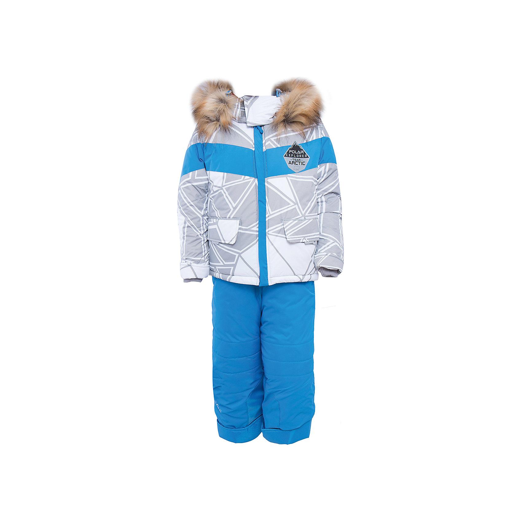 Комплект: куртка и брюки для мальчика BOOM by OrbyВерхняя одежда<br>Характеристики изделия:<br><br>- комплектация: куртка, полукомбинезон;<br>- материа л верха: 100% полиэстер;;<br>- подкладка: ПЭ, флис;<br>- утеплитель: Flexy Fiber 400 г/м2, 200 г/м2; <br>- фурнитура: металл, пластик;<br>- застежка: молния;<br>- капюшон;<br>- внутренний ветрозащитный клапан;<br>- принт на куртке;<br>- температурный режим до -30°С<br><br><br>В холодный сезон важно одеть ребенка комфортно и тепло. Этот стильный и теплый комплект позволит мальчику наслаждаться зимним отдыхом, не боясь замерзнуть, и выглядеть при этом очень симпатично.<br>Теплая куртка плотно сидит благодаря манжетам и надежным застежкам. Она смотрится очень эффектно благодаря стильному принту. Полукомбинезон дополнен регулируемыми лямками, карманами и манжетами.<br><br>Комплект: курта и брюки для мальчика от бренда BOOM by Orby можно купить в нашем магазине.<br><br>Ширина мм: 215<br>Глубина мм: 88<br>Высота мм: 191<br>Вес г: 336<br>Цвет: серый<br>Возраст от месяцев: 12<br>Возраст до месяцев: 15<br>Пол: Мужской<br>Возраст: Детский<br>Размер: 80,104,86,92,98,116,110<br>SKU: 4982704