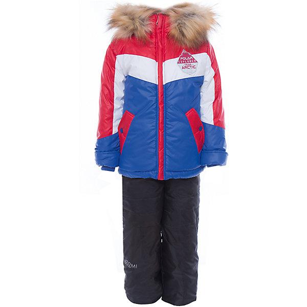Комплект: куртла и брюки для мальчика BOOM by OrbyВерхняя одежда<br>Характеристики изделия:<br><br>- комплектация: куртка, полукомбинезон;<br>- материал верха: болонь;<br>- подкладка: ПЭ, флис;<br>- утеплитель: эко-синтепон 400 г/м2, 200 г/м2; <br>- отделка: искусственный мех;<br>- фурнитура: металл, пластик;<br>- застежка: молния;<br>- капюшон;<br>- защита подбородка;<br>- клапан от ветра;<br>- принт на куртке;<br>- температурный режим до -30°С<br><br><br>В холодный сезон важно одеть ребенка комфортно и тепло. Этот стильный и теплый комплект позволит мальчику наслаждаться зимним отдыхом, не боясь замерзнуть, и выглядеть при этом очень симпатично.<br>Теплая куртка плотно сидит благодаря манжетам и надежным застежкам. Она смотрится очень эффектно благодаря пушистому воротнику. Полукомбинезон дополнен регулируемыми лямками, карманами и манжетами.<br><br>Комплект: курта и брюки для мальчика от бренда BOOM by Orby можно купить в нашем магазине.<br><br>Ширина мм: 215<br>Глубина мм: 88<br>Высота мм: 191<br>Вес г: 336<br>Цвет: красный<br>Возраст от месяцев: 12<br>Возраст до месяцев: 18<br>Пол: Мужской<br>Возраст: Детский<br>Размер: 86,122,98,92,104,116,110<br>SKU: 4982722