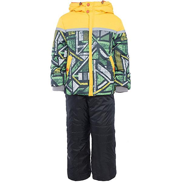 Комплект: куртка и брюки для мальчика BOOM by OrbyВерхняя одежда<br>Характеристики изделия:<br><br>- комплектация: куртка, полукомбинезон;<br>- материа л верха: 100% полиэстер;;<br>- подкладка: ПЭ, флис;<br>- утеплитель: эко-синтепон 400 г/м2, 200 г/м2; <br>- фурнитура: металл, пластик;<br>- застежка: молния;<br>- капюшон;<br>- внутренний ветрозащитный клапан;<br>- принт на куртке;<br>- температурный режим до -30°С<br><br><br>В холодный сезон важно одеть ребенка комфортно и тепло. Этот стильный и теплый комплект позволит мальчику наслаждаться зимним отдыхом, не боясь замерзнуть, и выглядеть при этом очень симпатично.<br>Теплая куртка плотно сидит благодаря манжетам и надежным застежкам. Она смотрится очень эффектно благодаря стильному принту. Полукомбинезон дополнен регулируемыми лямками, карманами и манжетами.<br><br>Комплект: курта и брюки для мальчика от бренда BOOM by Orby можно купить в нашем магазине.<br><br>Ширина мм: 215<br>Глубина мм: 88<br>Высота мм: 191<br>Вес г: 336<br>Цвет: зеленый<br>Возраст от месяцев: 12<br>Возраст до месяцев: 18<br>Пол: Мужской<br>Возраст: Детский<br>Размер: 86,122,98,116,110,104,92<br>SKU: 4982754