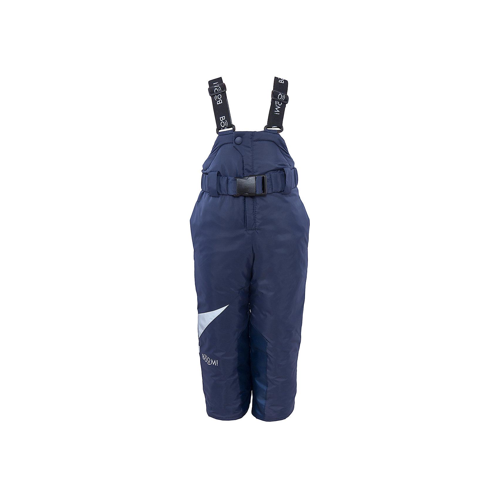 Полукомбинезон для мальчика BOOM by OrbyВерхняя одежда<br>Характеристики изделия:<br><br>- материа л верха: 100% полиэстер;;<br>- подкладка: ПЭ, флис;<br>- утеплитель: эко-синтепон 200 г/м2; <br>- фурнитура: металл, пластик;<br>- застежка: молния;<br>- регулируемые лямки;<br>- эластичный пояс;<br>- светоотражающие детали;<br>- температурный режим до -30°С<br><br>В холодный сезон важно одеть ребенка комфортно и тепло. Этот стильный и теплый полукомбинезон позволит мальчику наслаждаться зимним отдыхом, не боясь замерзнуть, и выглядеть при этом очень стильно.<br>Изделие плотно сидит благодаря продуманному крою и надежным застежкам. Оно смотрится очень эффектно благодаря стильному дизайну. Полукомбинезон дополнен карманами и эластичным поясом.<br><br>Полукомбинезон для мальчика от бренда BOOM by Orby можно купить в нашем магазине.<br><br>Ширина мм: 215<br>Глубина мм: 88<br>Высота мм: 191<br>Вес г: 336<br>Цвет: синий<br>Возраст от месяцев: 12<br>Возраст до месяцев: 15<br>Пол: Мужской<br>Возраст: Детский<br>Размер: 80,98,152,128,104,134,86,92,146,158,122,110,116,140<br>SKU: 4982824