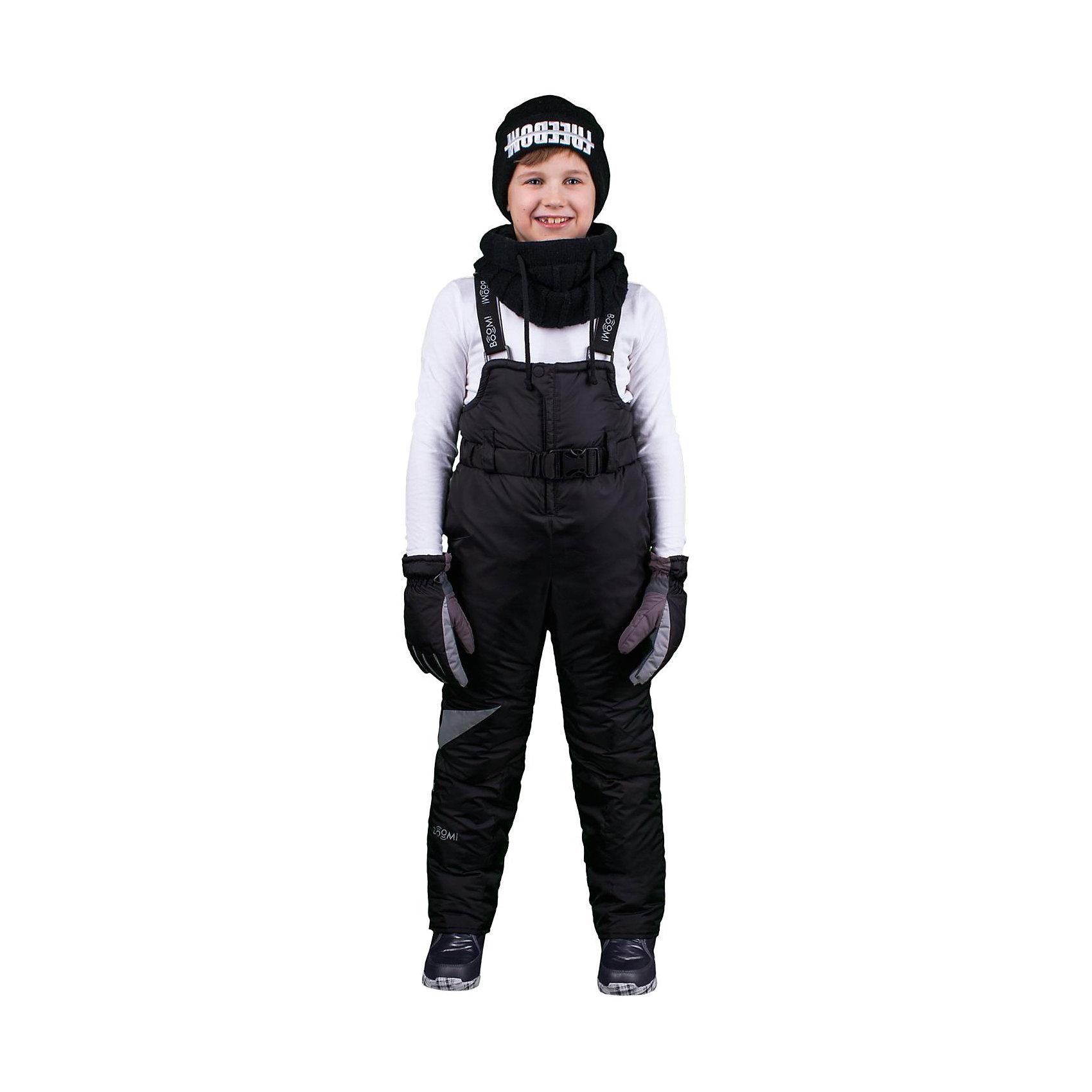 Полукомбинезон для мальчика BOOM by OrbyВерхняя одежда<br>Характеристики изделия:<br><br>- материа л верха: 100% полиэстер;;<br>- подкладка: ПЭ, флис;<br>- утеплитель: эко-синтепон 200 г/м2; <br>- фурнитура: металл, пластик;<br>- застежка: молния;<br>- регулируемые лямки;<br>- эластичный пояс;<br>- светоотражающие детали;<br>- температурный режим до -30°С<br><br>В холодный сезон важно одеть ребенка комфортно и тепло. Этот стильный и теплый полукомбинезон позволит мальчику наслаждаться зимним отдыхом, не боясь замерзнуть, и выглядеть при этом очень стильно.<br>Изделие плотно сидит благодаря продуманному крою и надежным застежкам. Оно смотрится очень эффектно благодаря стильному дизайну. Полукомбинезон дополнен карманами и эластичным поясом.<br><br>Полукомбинезон для мальчика от бренда BOOM by Orby можно купить в нашем магазине.<br><br>Ширина мм: 215<br>Глубина мм: 88<br>Высота мм: 191<br>Вес г: 336<br>Цвет: черный<br>Возраст от месяцев: 12<br>Возраст до месяцев: 18<br>Пол: Мужской<br>Возраст: Детский<br>Размер: 86,80,98,116,146,140,110,134,128,92,122,152,158,104<br>SKU: 4982839