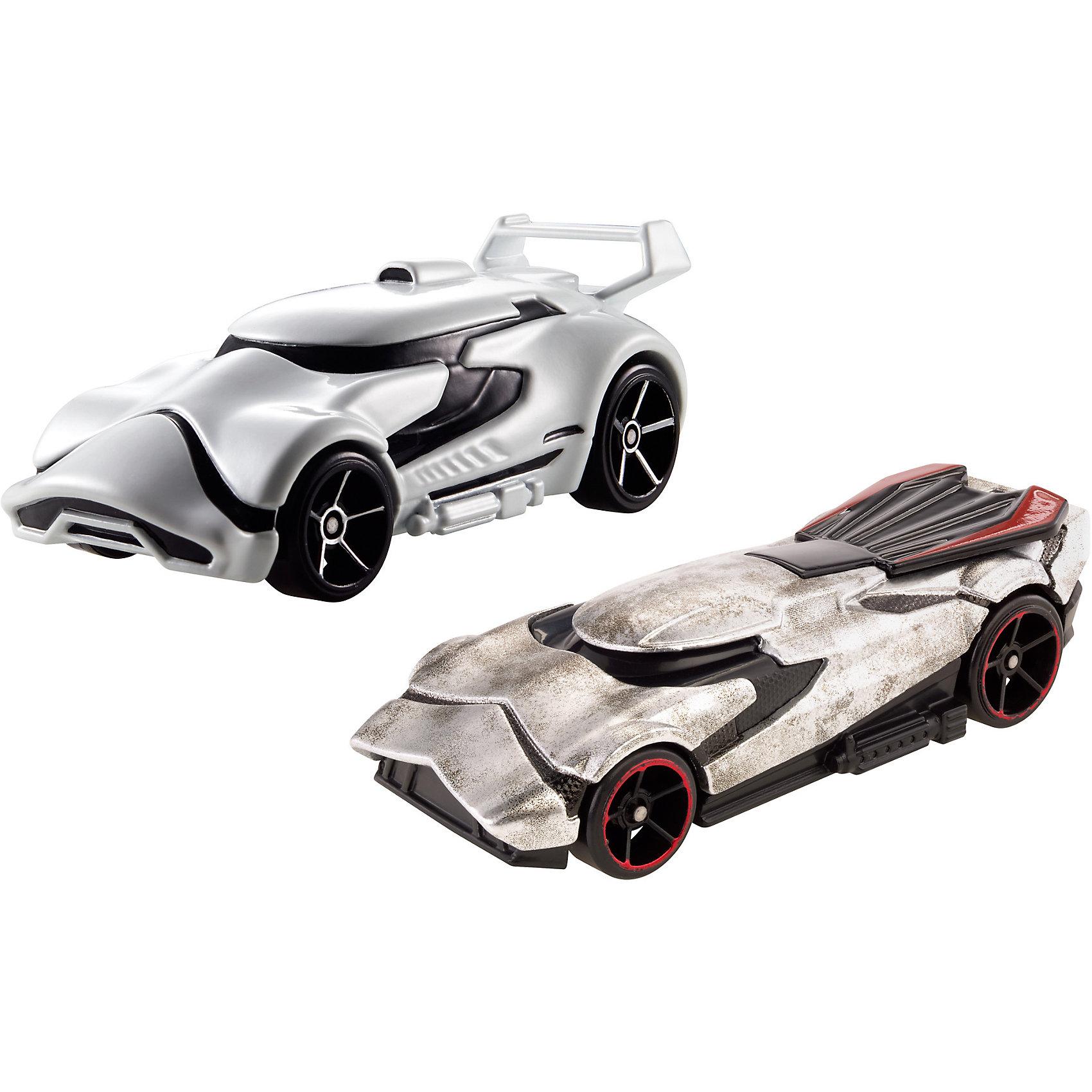 Набор из 2-х машинок Звездные войны, Hot WheelsПопулярные игрушки<br>Базовые машинки Star Wars, Hot Wheels (Хот Вилс) – этот набор порадует юного автолюбителя и поклонника межгалактических приключений. В этом наборе от Хот Вилс любимые миллионами персонажи «Звездных войн» робот C-3PO и астродроид R2D2 предстают в виде машинок. Несмотря на то, что их внешний вид в фильмах нисколько не походил на машины, каждый персонаж прекрасно узнаваем по цветам и характерным деталям, которые перешли от героев в дизайн автомобилей. Машинки понравятся поклонникам всех возрастов: соберите полную коллекцию и устраивайте гонки по всей галактике!  <br><br>Дополнительная информация:  <br>- В комплекте: 2 машины <br>- Масштаб: 1:64 <br>- Материал: пластик, металл <br>- Упаковка: блистер на картоне <br>- Размер упаковки: 20,3 x 6,4 x 16,5 см.  <br><br>Базовые машинки Star Wars, Hot Wheels (Хот Вилс) можно купить в нашем интернет-магазине.<br><br>Ширина мм: 65<br>Глубина мм: 205<br>Высота мм: 165<br>Вес г: 166<br>Возраст от месяцев: 48<br>Возраст до месяцев: 120<br>Пол: Мужской<br>Возраст: Детский<br>SKU: 4983083