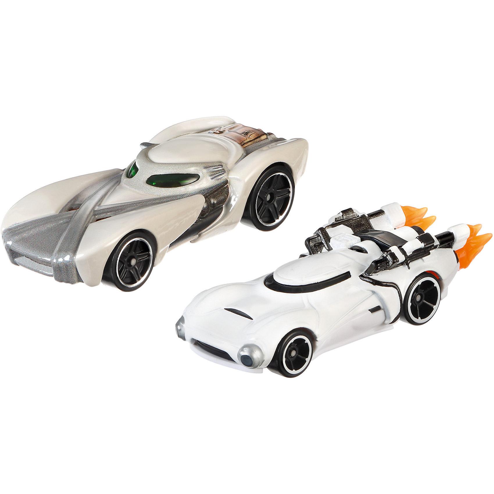 Набор из 2-х машинок Звездные войны, Hot WheelsМашинки<br>Базовые машинки Star Wars, Hot Wheels (Хот Вилс) – этот набор порадует юного автолюбителя и поклонника межгалактических приключений. В этом наборе от Хот Вилс любимые миллионами персонажи «Звездных войн» робот C-3PO и астродроид R2D2 предстают в виде машинок. Несмотря на то, что их внешний вид в фильмах нисколько не походил на машины, каждый персонаж прекрасно узнаваем по цветам и характерным деталям, которые перешли от героев в дизайн автомобилей. Машинки понравятся поклонникам всех возрастов: соберите полную коллекцию и устраивайте гонки по всей галактике!  <br><br>Дополнительная информация:  <br>- В комплекте: 2 машины <br>- Масштаб: 1:64 <br>- Материал: пластик, металл <br>- Упаковка: блистер на картоне <br>- Размер упаковки: 20,3 x 6,4 x 16,5 см.  <br><br>Базовые машинки Star Wars, Hot Wheels (Хот Вилс) можно купить в нашем интернет-магазине.<br><br>Ширина мм: 65<br>Глубина мм: 205<br>Высота мм: 165<br>Вес г: 166<br>Возраст от месяцев: 48<br>Возраст до месяцев: 120<br>Пол: Мужской<br>Возраст: Детский<br>SKU: 4983084