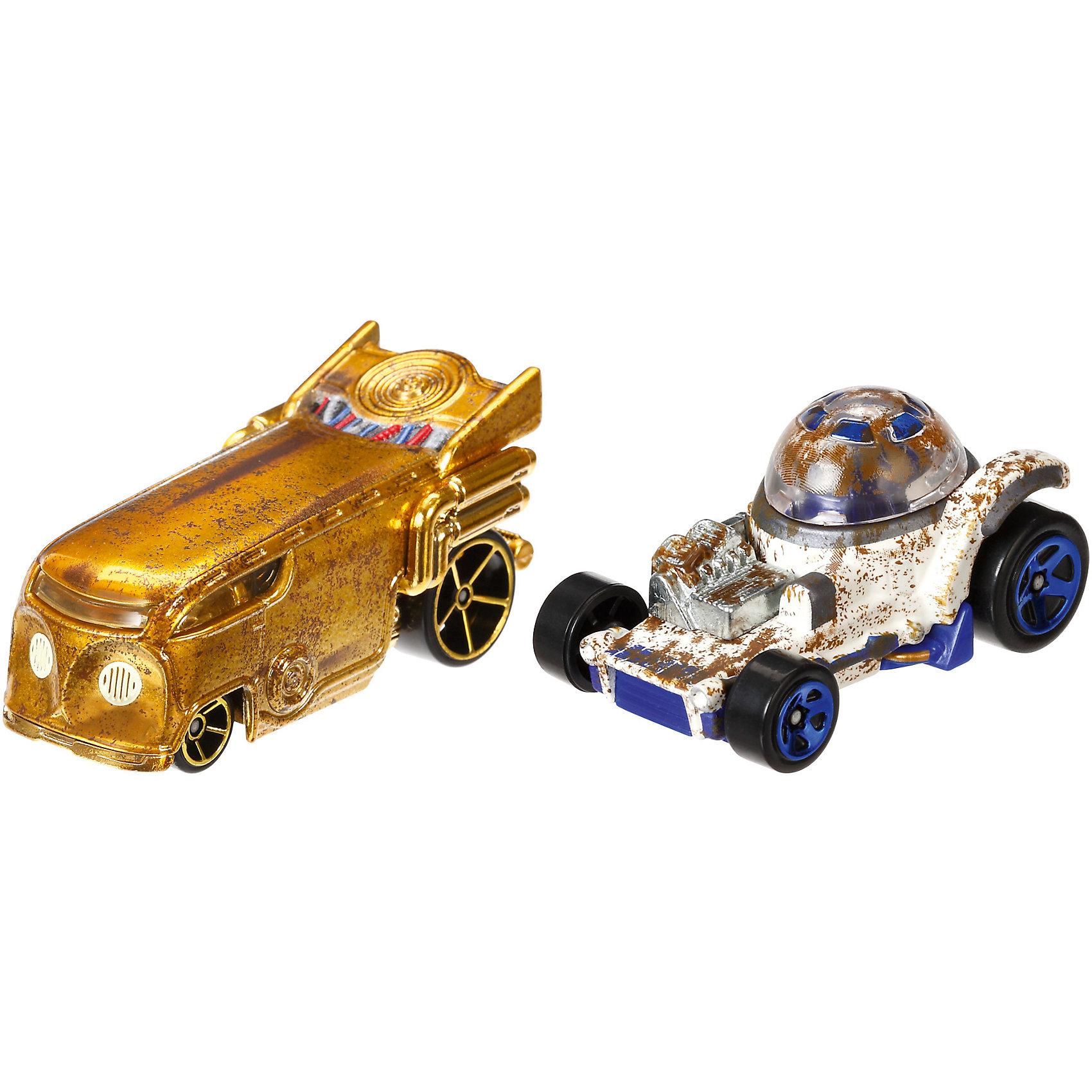 Набор из 2-х машинок Звездные войны, Hot WheelsЗвездные войны Игрушки<br>Базовые машинки Star Wars, Hot Wheels (Хот Вилс) – этот набор порадует юного автолюбителя и поклонника межгалактических приключений. В этом наборе от Хот Вилс любимые миллионами персонажи «Звездных войн» робот C-3PO и астродроид R2D2 предстают в виде машинок. Несмотря на то, что их внешний вид в фильмах нисколько не походил на машины, каждый персонаж прекрасно узнаваем по цветам и характерным деталям, которые перешли от героев в дизайн автомобилей. Машинки понравятся поклонникам всех возрастов: соберите полную коллекцию и устраивайте гонки по всей галактике!  <br><br>Дополнительная информация:  <br>- В комплекте: 2 машины <br>- Масштаб: 1:64 <br>- Материал: пластик, металл <br>- Упаковка: блистер на картоне <br>- Размер упаковки: 20,3 x 6,4 x 16,5 см.  <br><br>Базовые машинки Star Wars, Hot Wheels (Хот Вилс) можно купить в нашем интернет-магазине.<br><br>Ширина мм: 65<br>Глубина мм: 205<br>Высота мм: 165<br>Вес г: 166<br>Возраст от месяцев: 48<br>Возраст до месяцев: 120<br>Пол: Мужской<br>Возраст: Детский<br>SKU: 4983085