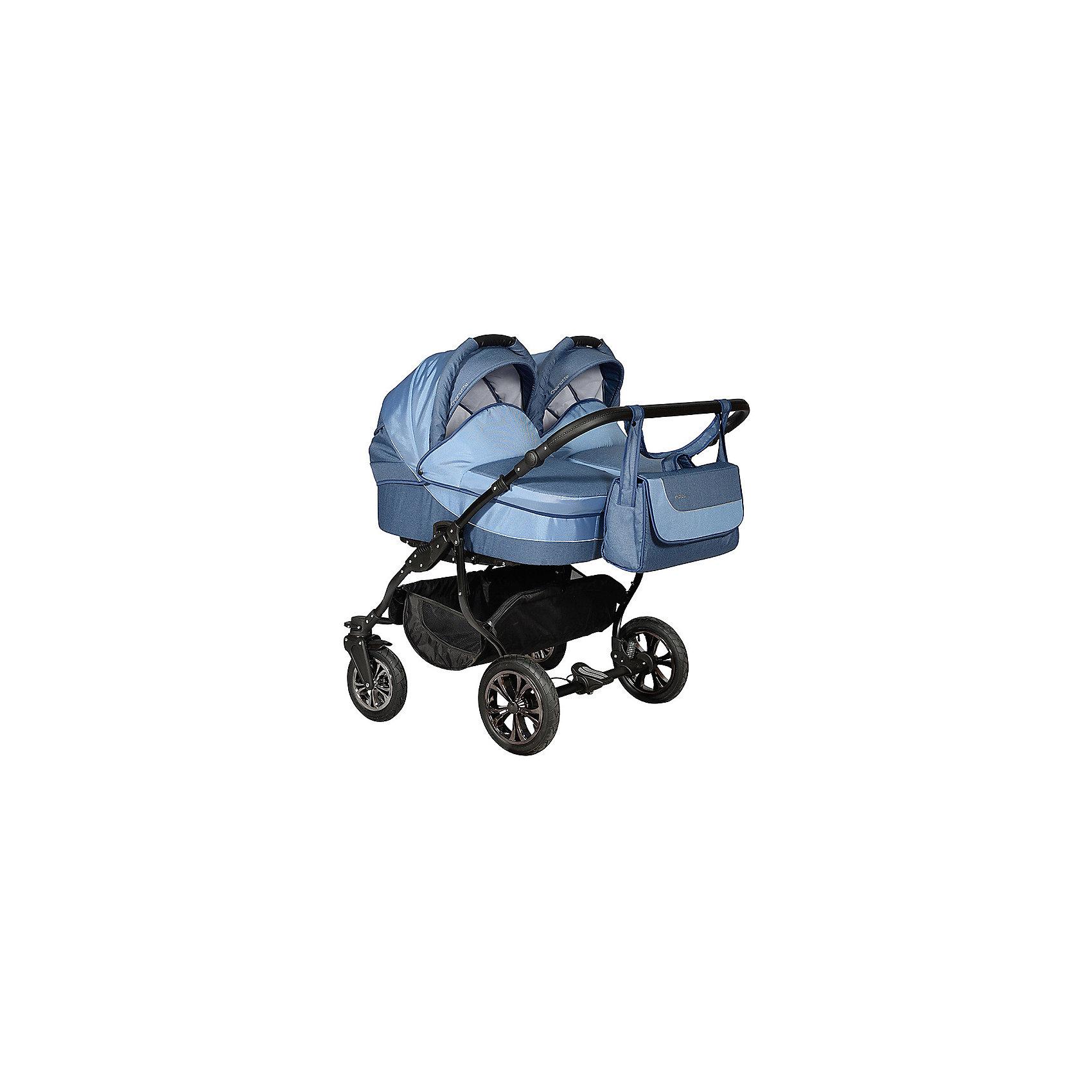 Коляска 2 в 1 для двойни CHARLOTTE DUO Ch 15, Indigo, джинсаКоляска 2 в 1 для двойни CHARLOTTE DUO Ch 15, Indigo, джинса – для удобного передвижения с двумя малышами. <br>Данная модель подходит для детей с самого рождения и до трех лет благодаря тому, что она состоит из люльки и прогулочного блока. Натуральная ткань коляски не вредит коже новорожденных. В комплекте с коляской накидка на ножки, сумка, дождевик и москитная сетка. Коляска очень компактная и легкая, что позволяет маме гулять с детьми одной. Коляску легко чистить и стирать. Высота ручки с возможностью регулировки. Большие колеса делают ход коляски плавным и устойчивым к неровной или снежной дороге. Для безопасности детей люльки оснащены пятиточечными ремнями безопасности.<br><br>Дополнительная информация:<br><br>- цвет: джинса<br>- размеры спального блока: 89х80х49 см<br>- вес: 20,8 кг<br>- диаметр колес: передние – 23 см, задние 29 см<br><br>Коляску 2 в 1 для двойни CHARLOTTE DUO Ch 15, Indigo, джинса можно купить в нашем интернет магазине.<br><br>Ширина мм: 900<br>Глубина мм: 540<br>Высота мм: 950<br>Вес г: 30000<br>Возраст от месяцев: 0<br>Возраст до месяцев: 36<br>Пол: Унисекс<br>Возраст: Детский<br>SKU: 4983588