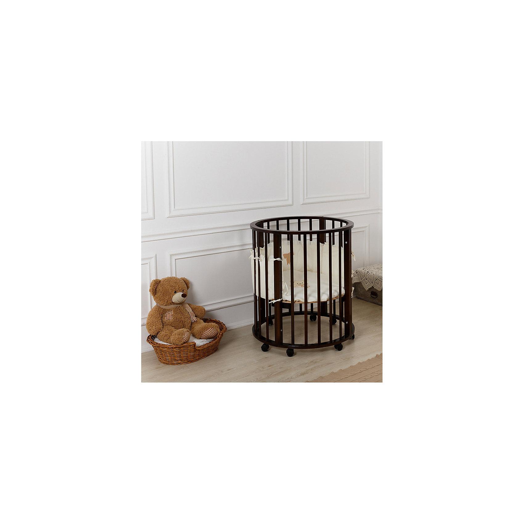 Кроватка 3 в 1 круглая, овальная, манеж, Incanto Gio, венгеКроватка 3 в 1 круглая, овальная, манеж, Incanto Gio, венге – эксклюзивный дизайн и идеальная экономия пространства.<br>Данная модель кроватки подойдет как новорожденному, так и ребенку до 5 лет. Легко и быстро переделывается из колыбели в кровать для малышей, а потом и для подрастающих детишек. Экологический и прочный материал – натуральное дерево – не вредит коже ребенка. Округлая форма колыбели напоминает малышу мамин животик. Кроватку можно использовать как манеж для игр.<br><br>Дополнительная информация:<br><br>- размер: колыбель – 75х75, кроватка для малышей – 125х75, подростковая кровать – 181х81х86<br>- вес: 31 кг<br><br>Кроватку 3 в 1 круглая, овальная, манеж, Incanto Gio, венге можно купить в нашем интернет магазине.<br><br>Ширина мм: 530<br>Глубина мм: 620<br>Высота мм: 580<br>Вес г: 30000<br>Возраст от месяцев: 0<br>Возраст до месяцев: 36<br>Пол: Унисекс<br>Возраст: Детский<br>SKU: 4983597