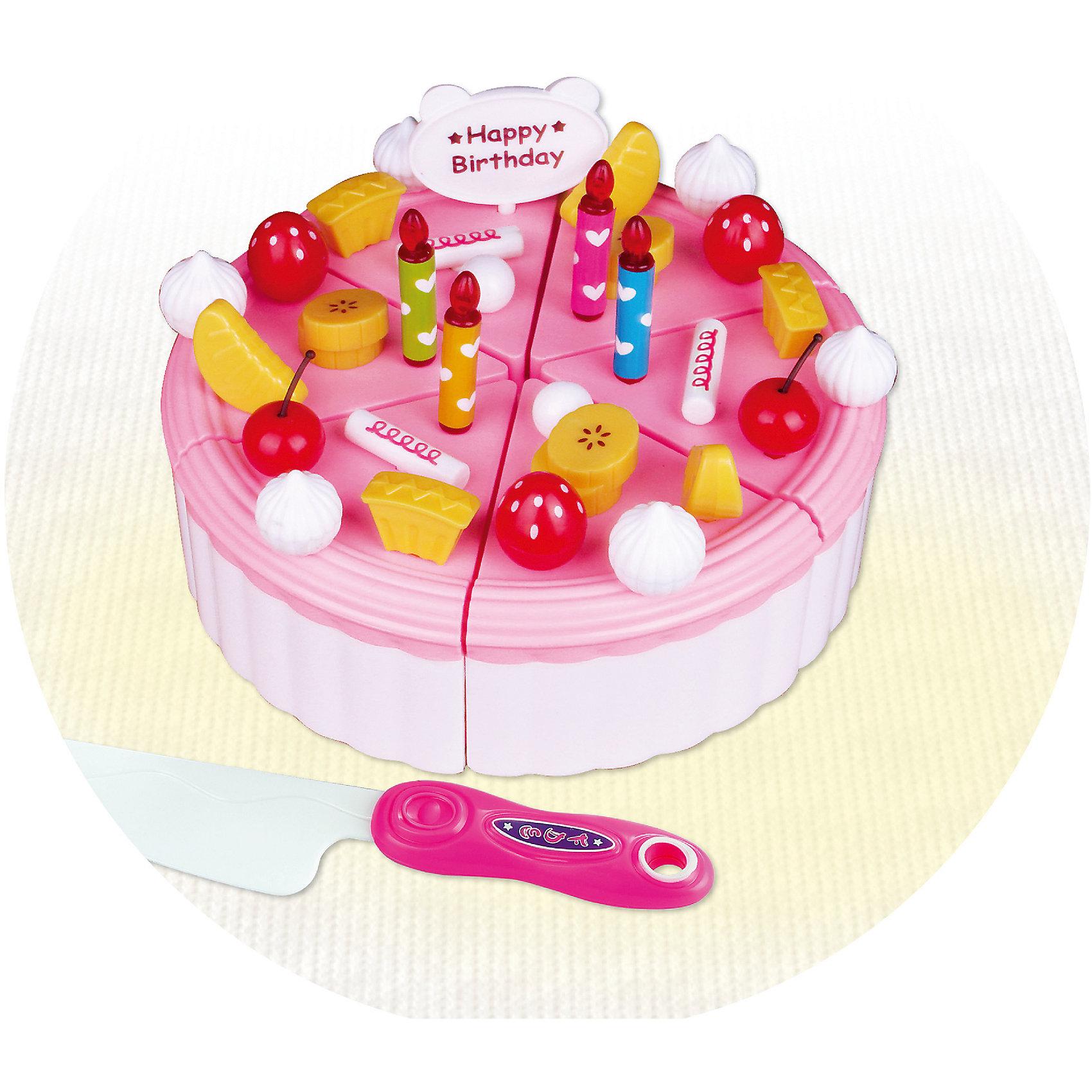 KRUTTI Игровой набор Торт и ножик, Krutti набор игровой праздничный торт a7401