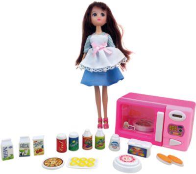 KRUTTI Игровой набор Кукла, микроволновая печка, продукты , Krutti