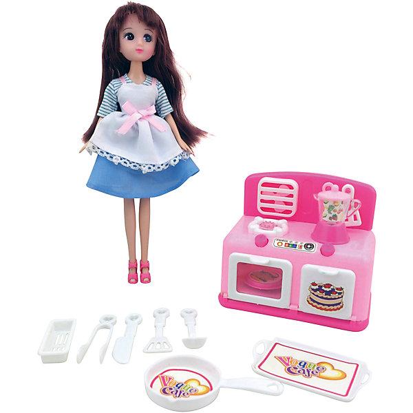 Игровой набор Кукла, плита, кухонные принадлежности, KruttiИгрушечная бытовая техника<br>Яркий набор с куклой, плитой и кухонными принадлежностями, будет прекрасным сюрпризом для Вашей малышки!<br>В наборе: кукла - 1шт. (23 см.), плита - 1шт. (длина 12 см.), сушка для посуды - 1шт., сковорода - 1шт., поднос - 1шт., кухонные щипцы - 1шт. ножик - 1шт., половник - 1шт., лопатка с отверстиями - 1шт., кастрюля с крышкой - 1шт.<br><br>Дополнительная информация:<br><br>- Возраст: от 3 лет.<br>- Материал: пластик с элементами металла, текстиль.<br>- Размер упаковки: 12х3.5х23.2 см.<br>- Вес в упаковке: 573 г.<br><br>Купить игровой набор Кукла, плита, кухонные принадлежности от Krutti, можно в нашем магазине.<br><br>Ширина мм: 120<br>Глубина мм: 35<br>Высота мм: 232<br>Вес г: 573<br>Возраст от месяцев: 36<br>Возраст до месяцев: 2147483647<br>Пол: Унисекс<br>Возраст: Детский<br>SKU: 4985467