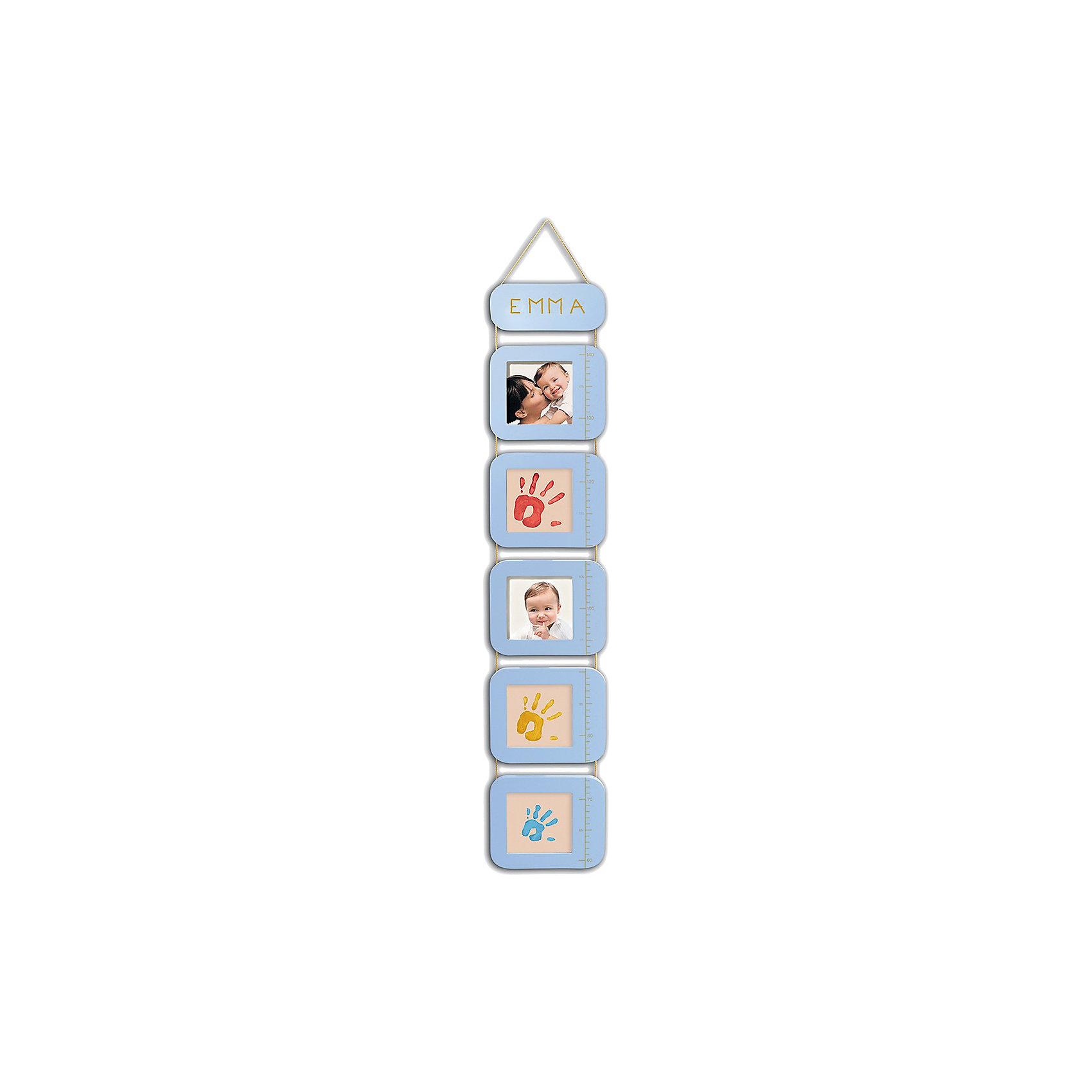 Ростомер с отпечатками, Baby ArtПомнить, как рос ваш малыш, как менялся, поможет ростомер Baby Art (Бейби Арт). Отпечатки ручек и ножек размещаются на ростомере, между ними ставятся фотографии крохи. Пером с золотистым цветом чернил можно сделать красивую подпись к слепку, где будет указано имя малыша, дата создания отпечатка, рост ребенка. <br><br>Процесс создания отпечатка:<br>• из тюбика жидкая основа наносится на ладошку малыша и на каждый пальчик;<br>• специальным роллером основа распределяется по всей поверхности ладошки или стопы ребенка;<br>• ставится отпечаток на одном из окошек ростомера;<br>• готовый отпечаток оставляют на свежем воздухе для сушки;<br>• золотистыми чернилами делают подпись;<br>• в рамки вставляются фотографии малыша.<br>Комплектация набора:<br>• ростомер с окошками для фотографий и отпечатков ручек и ножек;<br>• жидкая основа в тюбиках;<br>• роллер, перо;<br>• инструкция. <br>Ростомер, Baby Art, можно купить в нашем интернет-магазине.<br><br>Ширина мм: 320<br>Глубина мм: 65<br>Высота мм: 185<br>Вес г: 1500<br>Возраст от месяцев: 0<br>Возраст до месяцев: 84<br>Пол: Унисекс<br>Возраст: Детский<br>SKU: 4986118