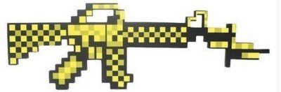 - Пиксельный автомат, золотой, 62 см, Minecraft