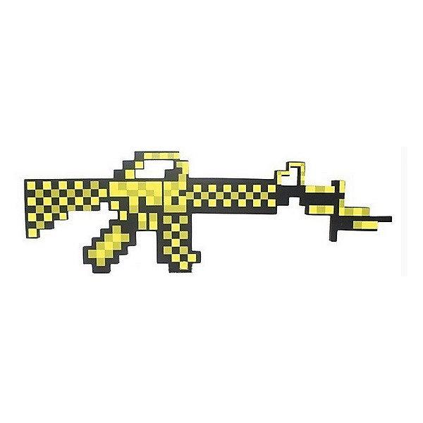 Пиксельный автомат, золотой, 62 см, MinecraftИгрушечное оружие<br>Пиксельный автомат отлично подойдет для любителей героев игры Minecraft(Майнкрафт). С таким автоматом ребёнок переместиться из пиксельной игры в реальность. Автомат имеет небольшой вес, поэтому малыш сможет взять его на прогулку или в путешествие. Так же пиксельный автомат сделан из качественного и безопасного для детей материала, поэтому не принесёт никого вреда вашему  ребёнку.<br><br>Характеристика:<br>-Цвет:золотой<br>-Вес:150 г<br>-Размер:62 см<br>-Возраст: от 5 лет<br>Пикселиный автомат,золотой вы можете приобрести в нашем интернет-магазине<br>Ширина мм: 450; Глубина мм: 350; Высота мм: 15; Вес г: 150; Возраст от месяцев: 60; Возраст до месяцев: 2147483647; Пол: Мужской; Возраст: Детский; SKU: 4986595;