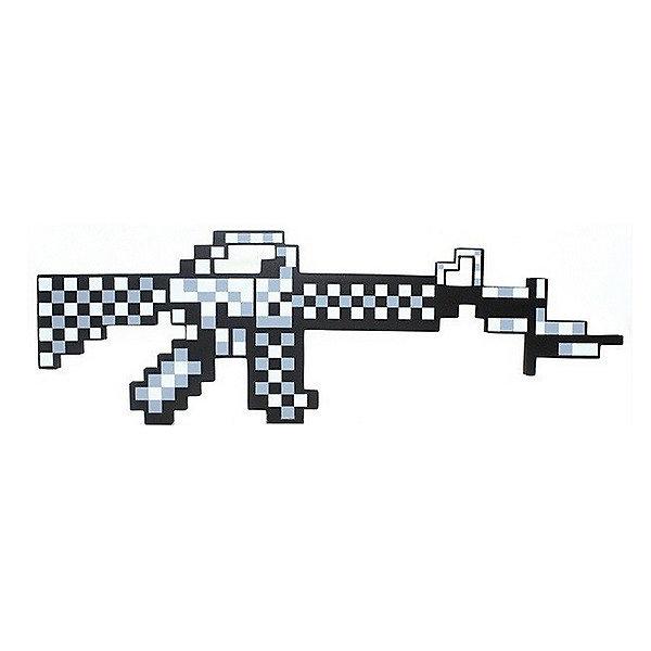 Пиксельный автомат, серый, 62 см, MinecraftИгрушечные пистолеты и бластеры<br>Пиксельный автомат отлично подойдет для любителей героев игры Minecraft(Майнкрафт). С таким автоматом ребёнок переместиться из пиксельной игры в реальность. Автомат имеет небольшой вес, поэтому малыш сможет взять его на прогулку или в путешествие. Так же пиксельный автомат сделан из качественного и безопасного для детей материала, поэтому не принесёт никого вреда вашему  ребёнку.<br><br>Характеристика:<br>-Цвет:серый<br>-Вес:150 г<br>-Размер:62 см<br>-Возраст: от 5 лет<br>Пикселиный автомат,серый вы можете приобрести в нашем интернет-магазине<br>Ширина мм: 450; Глубина мм: 350; Высота мм: 15; Вес г: 150; Возраст от месяцев: 60; Возраст до месяцев: 2147483647; Пол: Мужской; Возраст: Детский; SKU: 4986596;