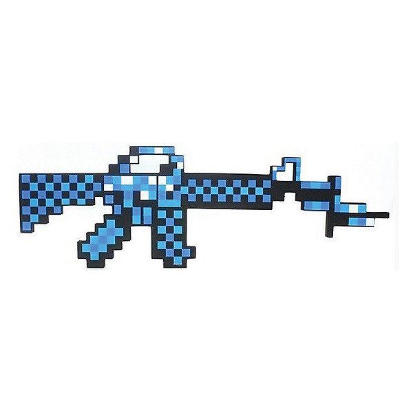 Пиксельный автомат, синий, 62 см, MinecraftИгрушечные пистолеты и бластеры<br>Пиксельный автомат отлично подойдет для любителей героев игры Minecraft(Майнкрафт). С таким автоматом ребёнок переместиться из пиксельной игры в реальность. Автомат имеет небольшой вес, поэтому малыш сможет взять его на прогулку или в путешествие. Так же пиксельный автомат сделан из качественного и безопасного для детей материала, поэтому не принесёт никого вреда вашему  ребёнку.<br><br>Характеристика:<br>-Цвет:синий<br>-Вес:150 г<br>-Размер:62 см<br>-Возраст: от 5 лет<br>Пикселиный автомат,синий вы можете приобрести в нашем интернет-магазине<br>Ширина мм: 450; Глубина мм: 350; Высота мм: 15; Вес г: 150; Возраст от месяцев: 60; Возраст до месяцев: 2147483647; Пол: Мужской; Возраст: Детский; SKU: 4986597;