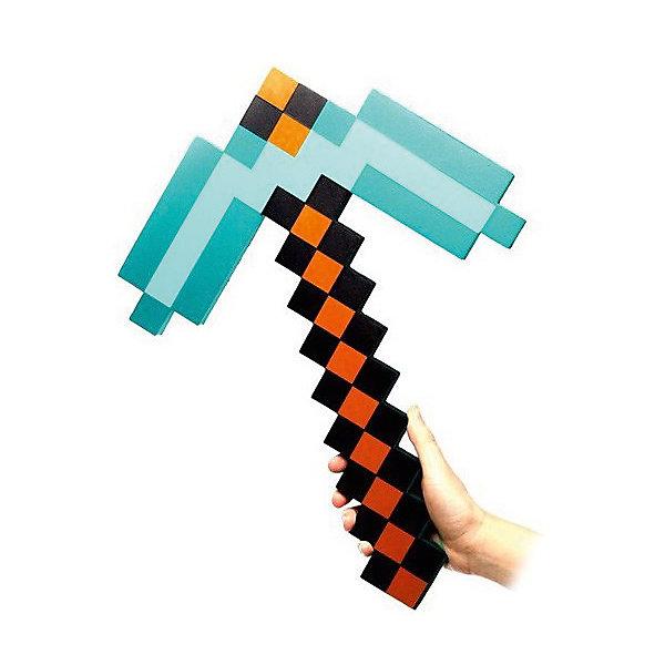 Пиксельная кирка, алмазная, 45 см, MinecraftИгрушечное оружие<br>Пиксельная кирка отлично подойдет для любителей героев игры Minecraft(Майнкрафт). С таким подарком  ребёнок переместиться из пиксельной игры в реальность. Пиксельная кирка сделана из качественного и безопасного для детей материала, поэтому не принесёт никого вреда вашему  ребёнку. Небольшой вес кирки позволит брать её на прогулку или в путешествие.<br><br>Характеристика:<br>-Цвет: алмазный<br>-Вес:150 г<br>-Размер:45 см<br>-Возраст: от 5 лет<br>Пиксельную кирку, алмазную вы можете приобрести в нашем интернет-магазине.<br>Ширина мм: 450; Глубина мм: 200; Высота мм: 15; Вес г: 150; Возраст от месяцев: 60; Возраст до месяцев: 2147483647; Пол: Мужской; Возраст: Детский; SKU: 4986599;
