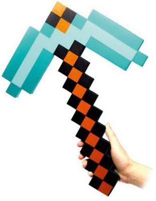 - Пиксельная Кирка, Изумрудная, 45 См, Minecraft