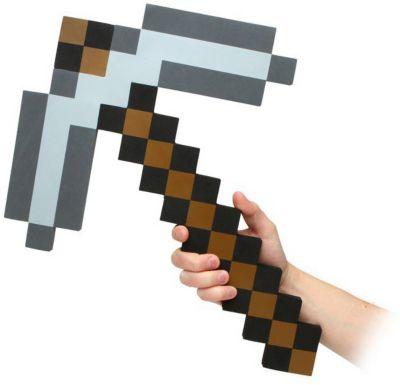 - Пиксельная Кирка, Коричневая, 45 См, Minecraft