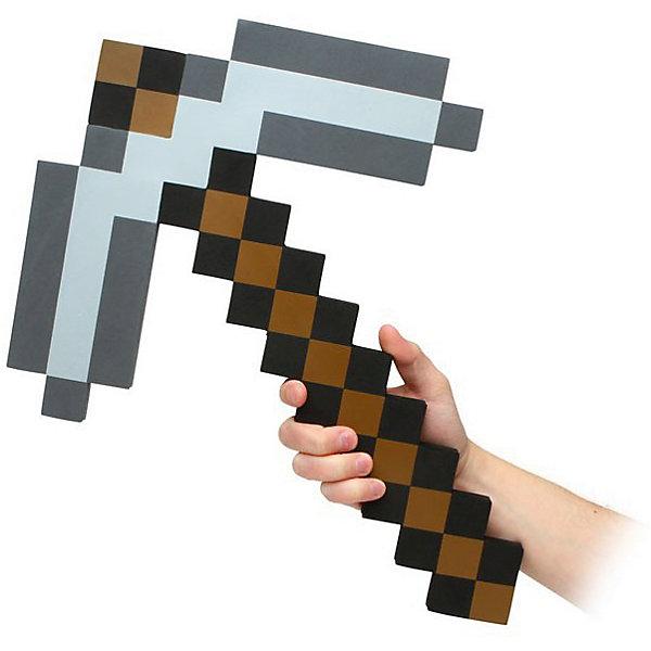 Пиксельная кирка, коричневая, 45 см, MinecraftИгрушечное оружие<br>Пиксельная кирка отлично подойдет для любителей героев игры Minecraft(Майнкрафт). С таким подарком  ребёнок переместиться из пиксельной игры в реальность. Пиксельная кирка сделана из качественного и безопасного для детей материала, поэтому не принесёт никого вреда вашему  ребёнку. Небольшой вес кирки позволит брать её на прогулку или в путешествие.<br><br>Характеристика:<br>-Цвет: коричневый<br>-Вес:150 г<br>-Размер:45 см<br>-Возраст: от 5 лет<br>Пиксельную кирку, алмазную вы можете приобрести в нашем интернет-магазине.<br><br>Ширина мм: 450<br>Глубина мм: 200<br>Высота мм: 15<br>Вес г: 150<br>Возраст от месяцев: 60<br>Возраст до месяцев: 2147483647<br>Пол: Мужской<br>Возраст: Детский<br>SKU: 4986602