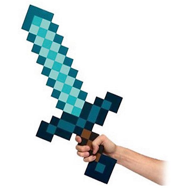 Пиксельный меч, алмазный, 60 см, MinecraftИгрушечные мечи и щиты<br>Пиксельный меч отлично подойдет для любителей героев игры Minecraft(Майнкрафт). С таким подарком  ребёнок переместиться из пиксельной игры в реальность. Пиксельный меч сделан из качественного и безопасного для детей материала, поэтому не принесёт никого вреда вашему  ребёнку. С таким мечом ребёнок сможет создать свою собственную историю пиксельного мира. А небольшой вес кирки позволит брать её на прогулку или в путешествие.<br><br>Характеристика:<br>-Цвет: алмазный<br>-Вес:150 г<br>-Размер:60 см<br>-Возраст: от 5 лет<br>-Материал: мягкий полимер<br>Пиксельный меч, алмазный вы можете приобрести в нашем интернет-магазине.<br>Ширина мм: 600; Глубина мм: 150; Высота мм: 15; Вес г: 150; Возраст от месяцев: 60; Возраст до месяцев: 2147483647; Пол: Мужской; Возраст: Детский; SKU: 4986603;