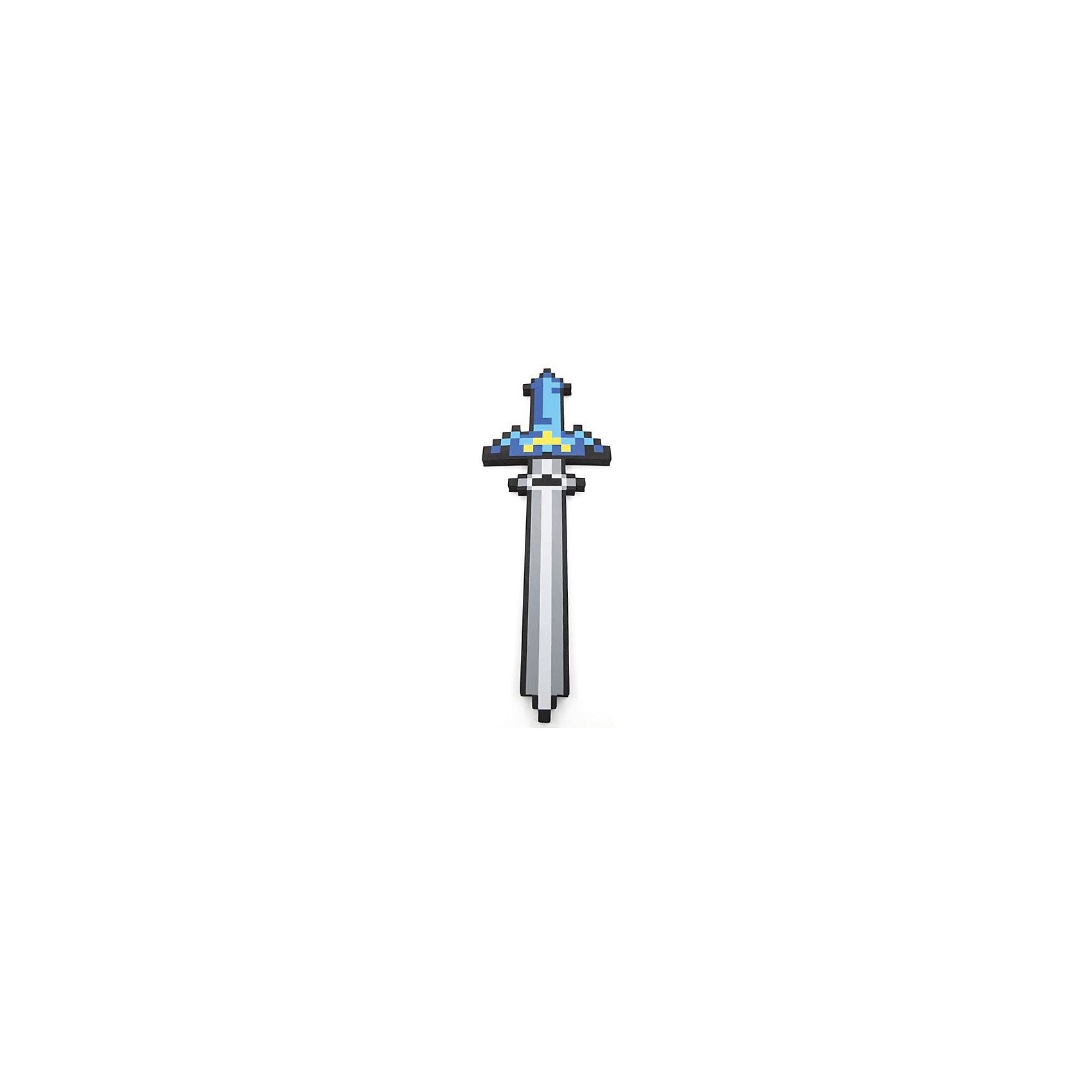 - Пиксельный меч, синий, 65 см, Minecraft пиксельный меч ледяной 8 бит зеленый 60 см