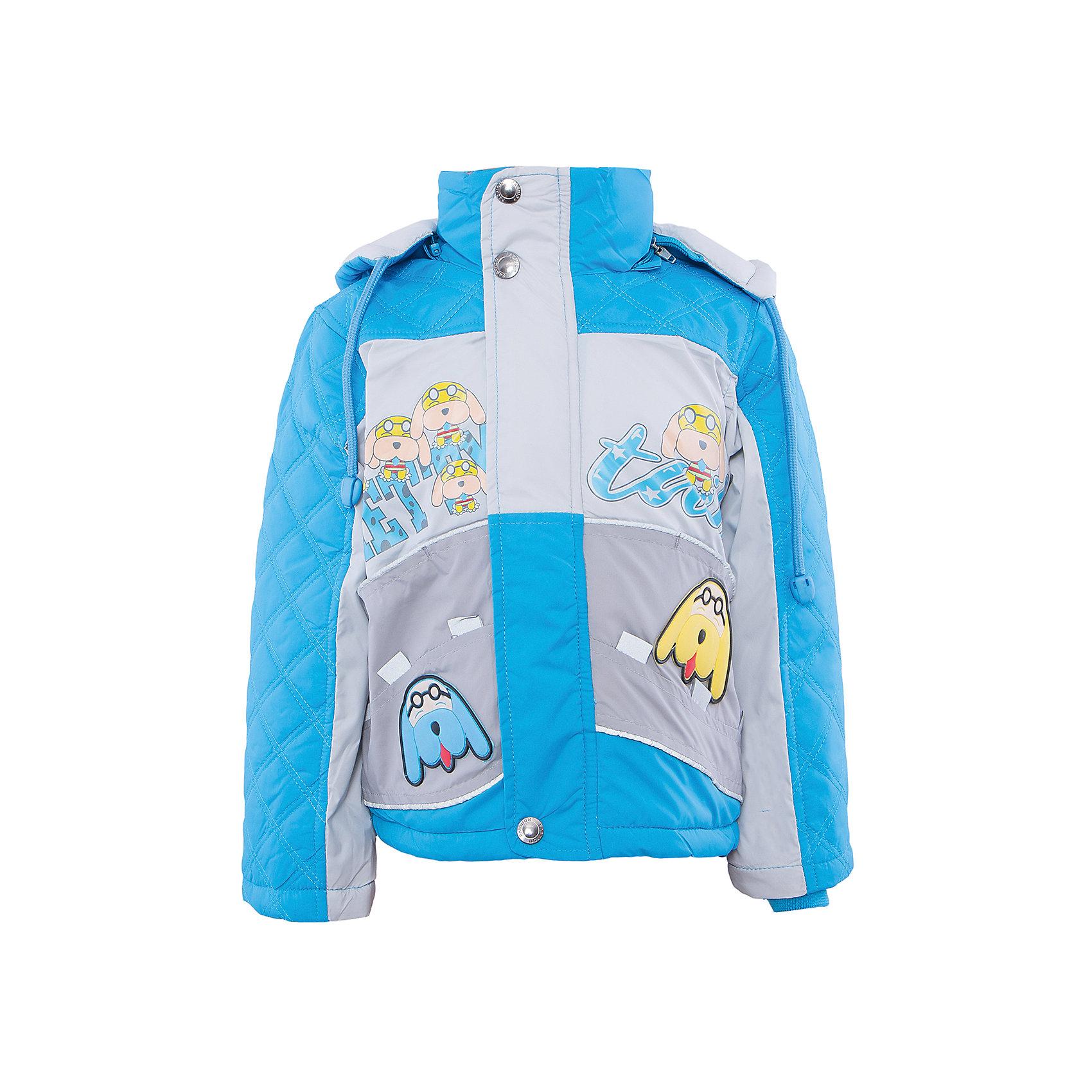 Куртка для мальчика DAUBERХарактеристики:<br><br>• Состав: 100%полиэстер.<br>• Цвет: голубой.<br>• Материал: текстиль.<br>• Температурный режим до -5 . *<br><br>* Температурный режим указан приблизительно — необходимо, прежде всего, ориентироваться на ощущения ребенка. <br><br>Куртка для мальчика DAUBER от российского бренда DAUBER.<br>Яркая куртка голубого цвета выполнена из синтетического материала. Застегивается куртка на молнию, также имеется дополнительный клапан с кнопками. Капюшон, затягивающийся на шнурок, надежно защитит Вашего малыша от ветра и непогоды. Оригинальный забавный принт – собачки ,не оставит равнодушным вашего малыша. <br><br>Куртка для мальчика DAUBER, можно купить в нашем интернет - магазине.<br><br>Ширина мм: 356<br>Глубина мм: 10<br>Высота мм: 245<br>Вес г: 519<br>Цвет: серый/синий<br>Возраст от месяцев: 60<br>Возраст до месяцев: 72<br>Пол: Мужской<br>Возраст: Детский<br>Размер: 116,92,98,104,110<br>SKU: 4987480