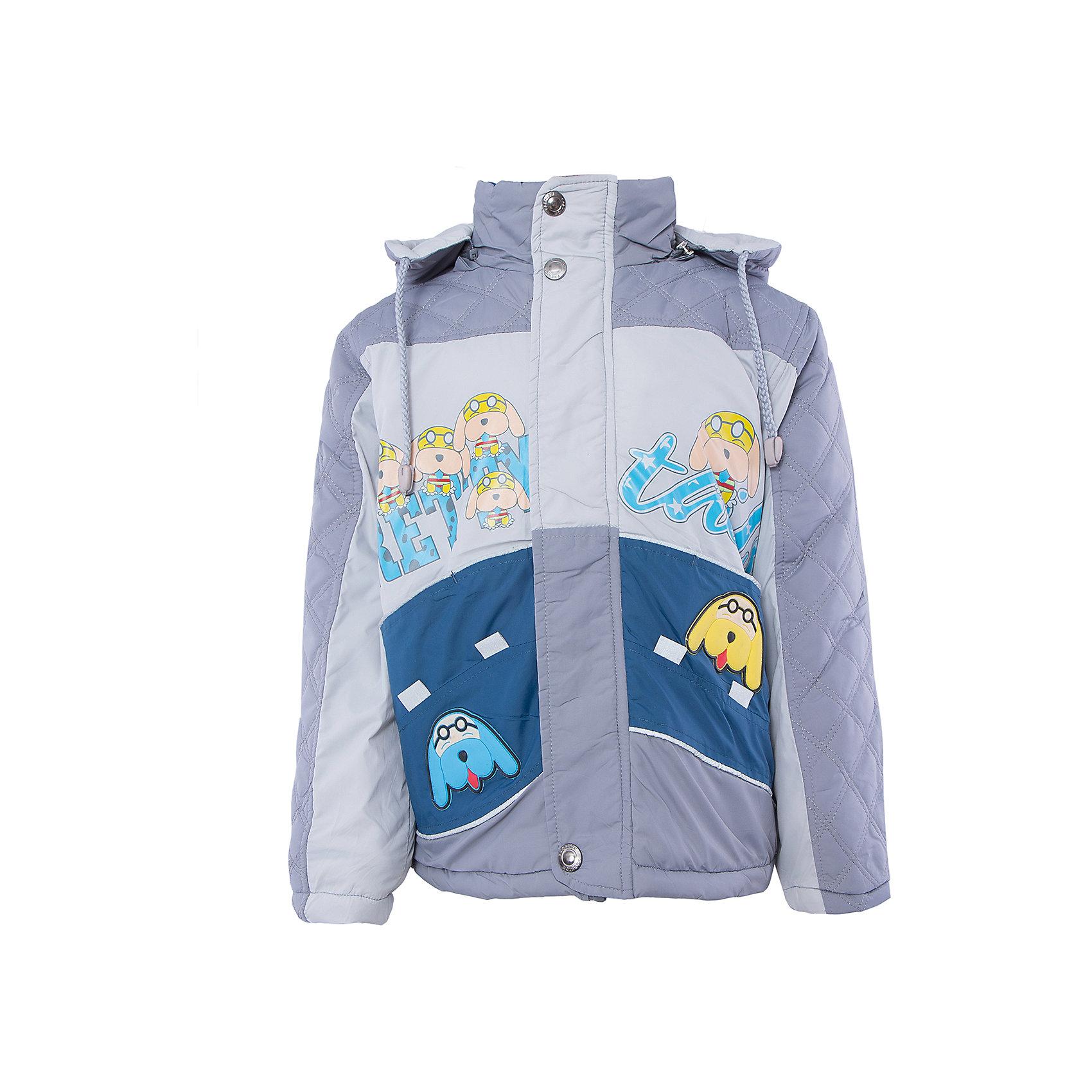 Куртка для мальчика DAUBERВерхняя одежда<br>Куртка для мальчика DAUBER<br><br>Характеристики:<br><br>• Состав: 100%полиэстер.<br>• Цвет: серый, синий.<br>• Материал: текстиль.<br>• Температурный режим до -5 . *<br><br>* Температурный режим указан приблизительно — необходимо, прежде всего, ориентироваться на ощущения ребенка. <br><br>Куртка для мальчика DAUBER от российского бренда DAUBER.<br>Яркая куртка серого цвета с синими вставками выполнена из синтетического материала. Застегивается куртка на молнию, также имеется дополнительный клапан с кнопками. Капюшон, затягивающийся на шнурок, надежно защитит Вашего малыша от ветра и непогоды. Оригинальный забавный принт – собачки ,не оставит равнодушным вашего малыша. <br><br>Куртка для мальчика DAUBER, можно купить в нашем интернет - магазине.<br><br>Ширина мм: 356<br>Глубина мм: 10<br>Высота мм: 245<br>Вес г: 519<br>Цвет: серый/синий<br>Возраст от месяцев: 60<br>Возраст до месяцев: 72<br>Пол: Мужской<br>Возраст: Детский<br>Размер: 116,92,98,104,110<br>SKU: 4987486