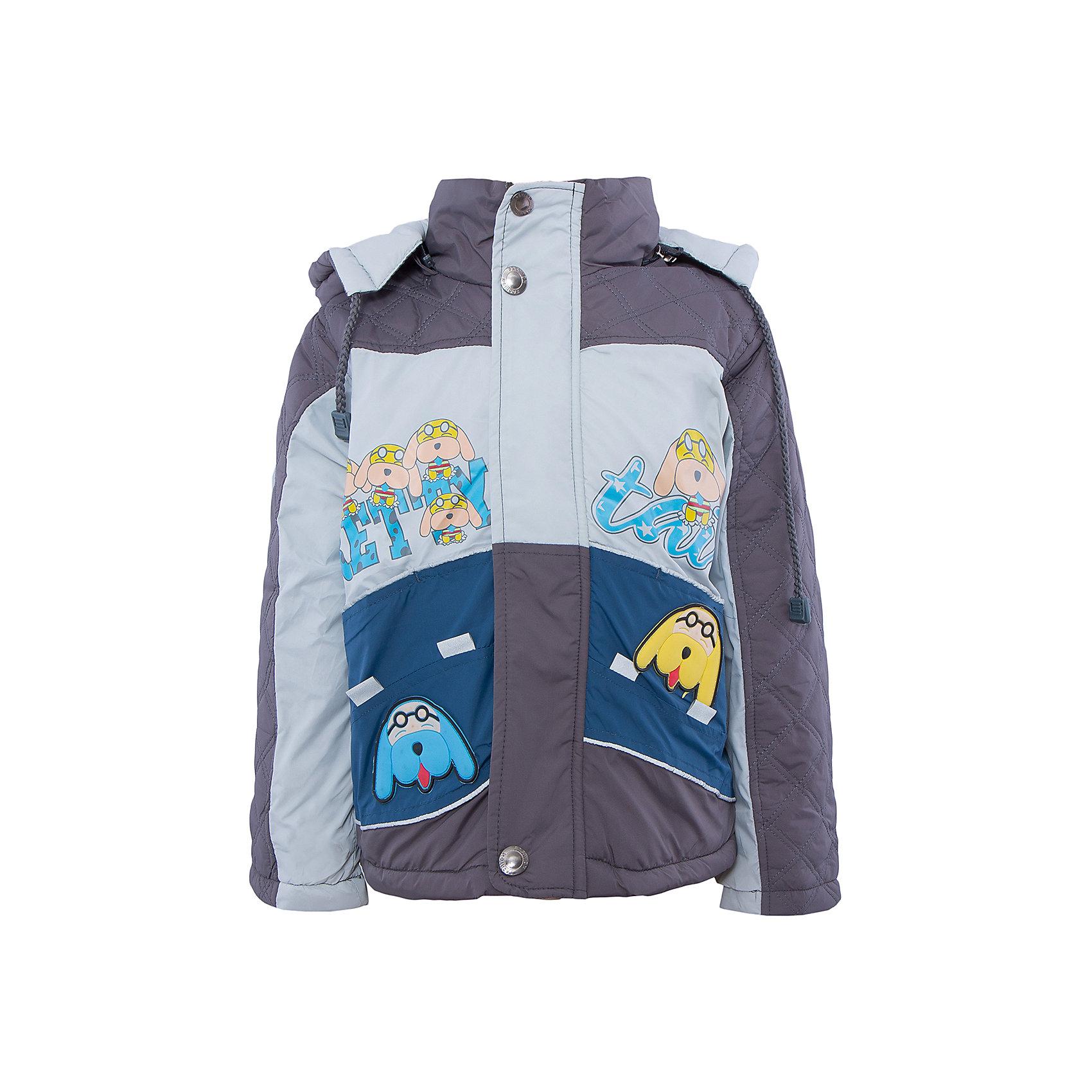 Куртка для мальчика DAUBERВерхняя одежда<br>Куртка для мальчика DAUBER<br><br>Характеристики:<br><br>• Состав: 100%полиэстер.<br>• Цвет:темно- серый, синий.<br>• Материал: текстиль.<br>• Температурный режим до -5 . *<br><br>* Температурный режим указан приблизительно — необходимо, прежде всего, ориентироваться на ощущения ребенка. <br><br>Куртка для мальчика DAUBER от российского бренда DAUBER.<br>Яркая куртка темно-серого цвета с синими вставками выполнена из синтетического материала. Застегивается куртка на молнию, также имеется дополнительный клапан с кнопками. Капюшон, затягивающийся на шнурок, надежно защитит Вашего малыша от ветра и непогоды. Оригинальный забавный принт – собачки ,не оставит равнодушным вашего малыша. <br>Куртка для мальчика DAUBER, можно купить в нашем интернет - магазине.<br><br>Ширина мм: 356<br>Глубина мм: 10<br>Высота мм: 245<br>Вес г: 519<br>Цвет: серый/синий<br>Возраст от месяцев: 18<br>Возраст до месяцев: 24<br>Пол: Мужской<br>Возраст: Детский<br>Размер: 92,116,98,104,110<br>SKU: 4987498