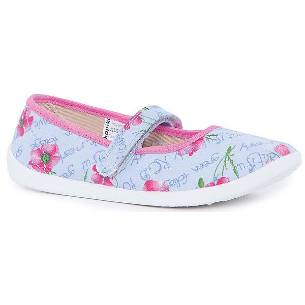 Туфли для девочки KAPIKAТекстильные туфли<br>Туфли для девочки KAPIKA станут отличным вариантом для летних прогулок. Туфельки очень удобные и не будут натирать ножки. Они не будут сковывать движение и прогулки станут особенно интересными. <br><br>Характеристика:<br>-Цвет: голубой<br>-Материал: верх - текстиль, стелька - кожа,                       подошва - полимер,                       подкладка - текстиль<br>-Застёжка: липучка<br>-Бренд: KAPIKA(КАПИКА)<br><br>Туфли для девочки KAPIKA  вы можете приобрести в нашем интернет- магазине.<br><br>Ширина мм: 227<br>Глубина мм: 145<br>Высота мм: 124<br>Вес г: 325<br>Цвет: синий<br>Возраст от месяцев: 72<br>Возраст до месяцев: 84<br>Пол: Женский<br>Возраст: Детский<br>Размер: 30,35,34,33,32,31<br>SKU: 4987733