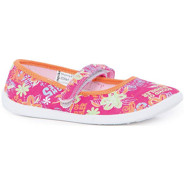 Туфли для девочки KAPIKAТуфли<br>Туфли для девочки KAPIKA станут отличным вариантом для летних прогулок. Туфельки очень удобные и не будут натирать ножки. Они не будут сковывать движение и прогулки станут особенно интересными. Порадуйте себя и своего малыша  таким замечательным подарком. <br><br>Характеристика:<br>-Цвет: розовый с рисунком<br>-Материал: верх - текстиль, стелька - кожа,                       подошва - полимер,                       подкладка - текстиль<br>-Застёжка: липучка<br>-Бренд: KAPIKA(КАПИКА)<br><br>Туфли для девочки KAPIKA  вы можете приобрести в нашем интернет- магазине.<br><br>Ширина мм: 227<br>Глубина мм: 145<br>Высота мм: 124<br>Вес г: 325<br>Цвет: розовый<br>Возраст от месяцев: 72<br>Возраст до месяцев: 84<br>Пол: Женский<br>Возраст: Детский<br>Размер: 30,35,34,33,32,31<br>SKU: 4987754