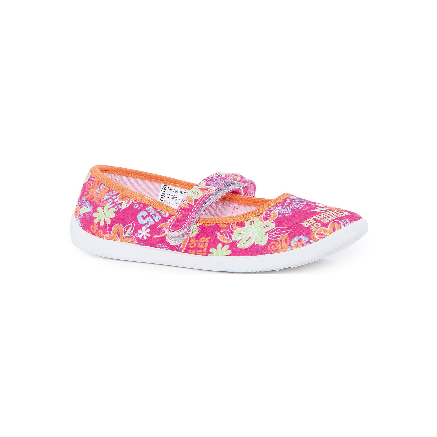 Туфли для девочки KAPIKAТуфли для девочки KAPIKA станут отличным вариантом для летних прогулок. Туфельки очень удобные и не будут натирать ножки. Они не будут сковывать движение и прогулки станут особенно интересными. Порадуйте себя и своего малыша  таким замечательным подарком. <br><br>Характеристика:<br>-Цвет: розовый с рисунком<br>-Материал: верх - текстиль, стелька - кожа,                       подошва - полимер,                       подкладка - текстиль<br>-Застёжка: липучка<br>-Бренд: KAPIKA(КАПИКА)<br><br>Туфли для девочки KAPIKA  вы можете приобрести в нашем интернет- магазине.<br><br>Ширина мм: 227<br>Глубина мм: 145<br>Высота мм: 124<br>Вес г: 325<br>Цвет: розовый<br>Возраст от месяцев: 84<br>Возраст до месяцев: 96<br>Пол: Женский<br>Возраст: Детский<br>Размер: 31,32,33,34,35,30<br>SKU: 4987754