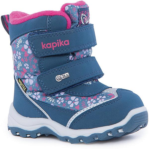 Ботинки для девочки KAPIKAБотинки<br>Ботинки для девочки KAPIKA.<br><br>Температурный режим: до -20 градусов. Степень утепления – средняя.<br><br>* Температурный режим указан приблизительно — необходимо, прежде всего, ориентироваться на ощущения ребенка. <br><br>Ботинки не только красивые снаружи, но и тёплые внутри. С ними прогулки вашей малышки станут еще интереснее и удобнее. <br><br>Характеристика:<br>-Цвет: синий<br>-Материал: снаружи- текстиль + искусственная кожа,                       подкладка:текстиль(шерсть 80%)<br>-Застёжка: две липучки<br>-Бренд: KAPIKA(КАПИКА)<br><br>Ботинки  для девочки KAPIKA  вы можете приобрести в нашем интернет- магазине.<br><br>Ширина мм: 262<br>Глубина мм: 176<br>Высота мм: 97<br>Вес г: 427<br>Цвет: синий<br>Возраст от месяцев: 24<br>Возраст до месяцев: 24<br>Пол: Женский<br>Возраст: Детский<br>Размер: 25,22,26,24,23<br>SKU: 4987767