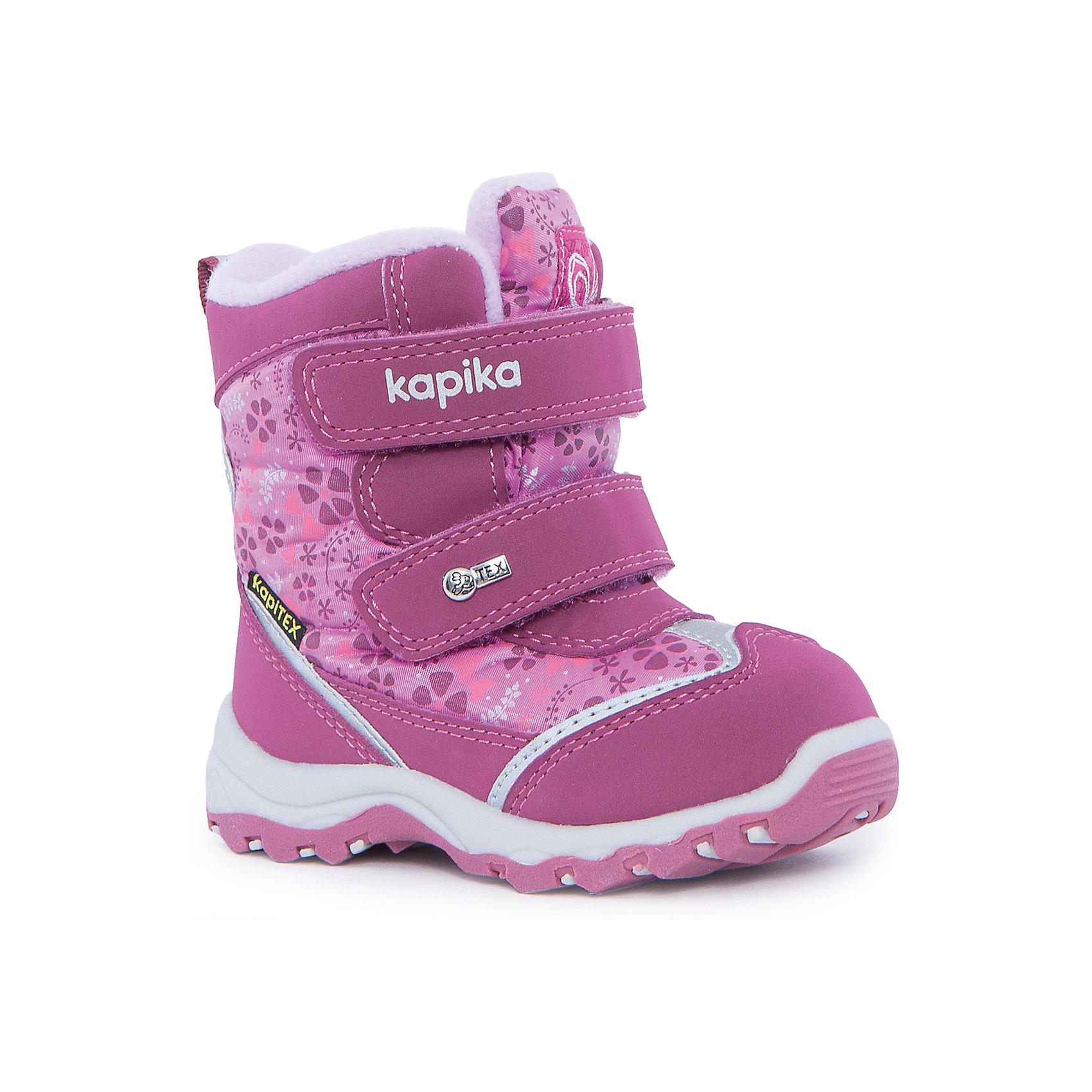 Ботинки для девочки KAPIKAОбувь для малышей<br>Ботинки для девочки KAPIKA.<br><br>Температурный режим: до -20 градусов. Степень утепления – средняя.<br><br>* Температурный режим указан приблизительно — необходимо, прежде всего, ориентироваться на ощущения ребенка. <br><br>Ботинки не только красивые снаружи, но и тёплые внутри. С ними прогулки вашей малышки станут еще интереснее и удобнее. <br><br>Характеристика:<br>-Цвет: розовый<br>-Материал: снаружи- текстиль + искусственная кожа,                       подкладка:текстиль(шерсть 80%)<br>-Застёжка: две липучки<br>-Бренд: KAPIKA(КАПИКА)<br><br>Ботинки  для девочки KAPIKA  вы можете приобрести в нашем интернет- магазине.<br><br>Ширина мм: 262<br>Глубина мм: 176<br>Высота мм: 97<br>Вес г: 427<br>Цвет: розовый<br>Возраст от месяцев: 24<br>Возраст до месяцев: 24<br>Пол: Женский<br>Возраст: Детский<br>Размер: 25,26,22,23,24<br>SKU: 4987779