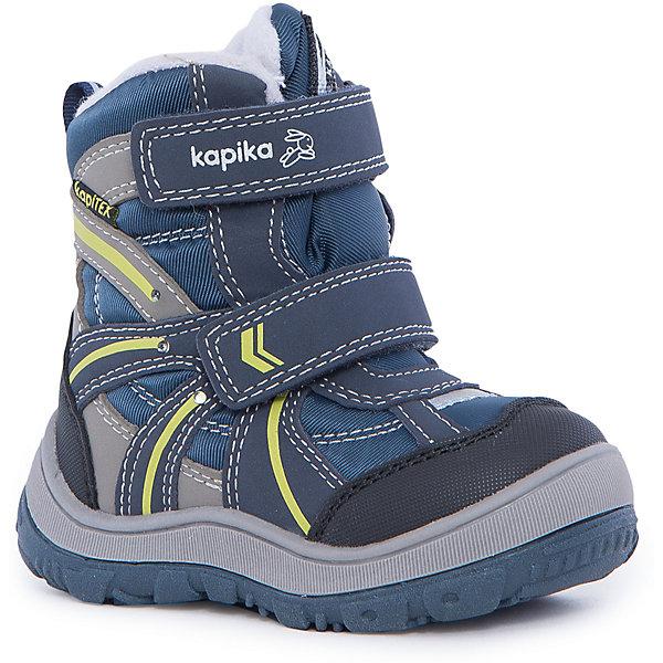 Ботинки для мальчика KAPIKAБотинки<br>Ботинки для мальчика  KAPIKA.<br><br>Температурный режим: до -20 градусов. Степень утепления – средняя.<br><br>* Температурный режим указан приблизительно — необходимо, прежде всего, ориентироваться на ощущения ребенка. <br><br>Ботинки не только красивые снаружи, но и тёплые внутри. С ними прогулки  станут еще интереснее и удобнее. Подарите вашему ребёнку незабываемые зимние прогулки. <br><br>Характеристика:<br>-Цвет: синий<br>-Материал: снаружи- текстиль + искусственная кожа,                     подкладка:текстиль(шерсть 80%)<br>-Застёжка: две липучки<br>-Бренд: KAPIKA(КАПИКА)<br>-Сезон: осень-зима<br><br>Ботинки  для мальчика KAPIKA  вы можете приобрести в нашем интернет- магазине.<br>Ширина мм: 262; Глубина мм: 176; Высота мм: 97; Вес г: 427; Цвет: blau/gelb; Возраст от месяцев: 21; Возраст до месяцев: 24; Пол: Мужской; Возраст: Детский; Размер: 24,23,27,26,25; SKU: 4987797;