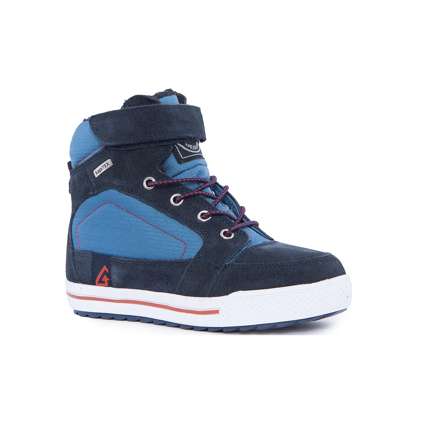 Ботинки для мальчика KAPIKAБотинки<br>Ботинки для мальчика KAPIKA.<br><br>Температурный режим: до -10 градусов. Степень утепления – низкая. <br><br>* Температурный режим указан приблизительно — необходимо, прежде всего, ориентироваться на ощущения ребенка.<br><br>Стильная обувь с защитой от холода.<br>Модные и красивые удлиненные кеды можно носить в холодную погоду. Подходят для осени, весны и ранней зимы. Не пропускают влагу, защищают ногу от попадания воды внутрь через верх. Хорошая устойчивая пятка. Нога фиксируется с помощью шнурков с ограничителем и липучки.<br><br>Дополнительная информация:<br><br>- цвет: синий<br>- материал: верх - текстиль/иск.кожа; подкладка - текстиль (шерсть 35%); подошва - ТЭП<br><br>Ботинки для мальчика KAPIKA можно купить в нашем интернет магазине.<br><br>Ширина мм: 262<br>Глубина мм: 176<br>Высота мм: 97<br>Вес г: 427<br>Цвет: синий<br>Возраст от месяцев: 108<br>Возраст до месяцев: 120<br>Пол: Мужской<br>Возраст: Детский<br>Размер: 33,36,37,34,35<br>SKU: 4987917