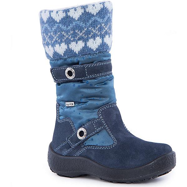 Сапоги для девочки KAPIKAСапоги<br>Сапоги для девочки KAPIKA.<br><br>Температурный режим: до -20 градусов. Степень утепления – средняя. <br><br>* Температурный режим указан приблизительно — необходимо, прежде всего, ориентироваться на ощущения ребенка. <br><br>Стильная обувь с защитой от холода.<br>Модные и красивые удлиненные сапоги можно носить в холодную погоду. Подходят для осени, весны и ранней зимы. Не пропускают влагу, защищают ногу от попадания воды внутрь через верх. Хорошая устойчивая пятка. Сверху дополнительный шерстяной верх для согрева ноги.<br><br>Дополнительная информация:<br><br>- цвет: синий<br>- материал: верх - текстиль; подкладка - текстиль (шерсть 30%); подошва - полимерный материал<br><br>Сапоги для девочки KAPIKA можно купить в нашем интернет магазине.<br><br>Ширина мм: 257<br>Глубина мм: 180<br>Высота мм: 130<br>Вес г: 420<br>Цвет: синий<br>Возраст от месяцев: 60<br>Возраст до месяцев: 72<br>Пол: Женский<br>Возраст: Детский<br>Размер: 29,34,27,28,30,31,32,33<br>SKU: 4987938
