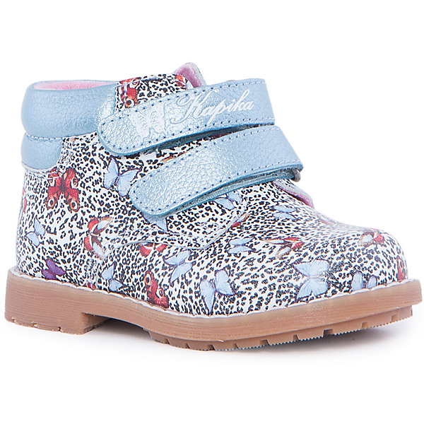 Ботинки для девочки KAPIKAБотинки<br>Ботинки для девочки KAPIKA – стиль, красота и тепло.<br>Красивые модные ботинки из натуральной кожи делают ходьбу комфортной и теплой. Внутри утепленная подкладка из шерсти. Ботинки сделаны с жестким задником и супинатором для правильного формирования ступни. Хорошо прилегают к ноге, закрепляясь двумя липучками. <br><br>Дополнительная информация:<br><br>- материал верха: натуральная кожа<br>- материал подкладки: утепленный текстиль, 80% шерсть<br><br>Ботинки для девочки KAPIKA можно купить в нашем интернет магазине.<br><br>Ширина мм: 262<br>Глубина мм: 176<br>Высота мм: 97<br>Вес г: 427<br>Цвет: белый<br>Возраст от месяцев: 15<br>Возраст до месяцев: 18<br>Пол: Женский<br>Возраст: Детский<br>Размер: 22,24,23,21<br>SKU: 4987980