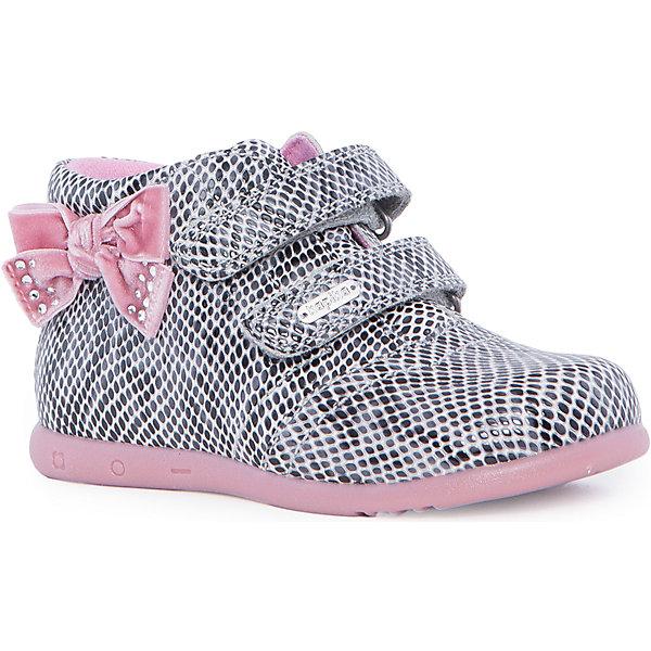Ботинки для девочки KAPIKAБотинки<br>Ботинки для девочки KAPIKA – стиль, удобство и комфорт.<br>Красивые ботиночки из натуральной кожи сделаны со специальным супинатором, который делает носку комфортной. Стелька и подкладка также из натуральной кожи. Ботиночки застегиваются с помощью двух липучек. Сбоку есть модный бантик для особенных красавиц.<br><br>Дополнительная информация:<br><br>- материал верха: натуральная кожа, нубук<br>- материал подкладки: натуральная кожа<br>- цвет: розовый<br><br>Ботинки для девочки KAPIKA можно купить в нашем интернет магазине.<br>Ширина мм: 262; Глубина мм: 176; Высота мм: 97; Вес г: 427; Цвет: серый; Возраст от месяцев: 24; Возраст до месяцев: 24; Пол: Женский; Возраст: Детский; Размер: 26,25,28,27; SKU: 4988029;
