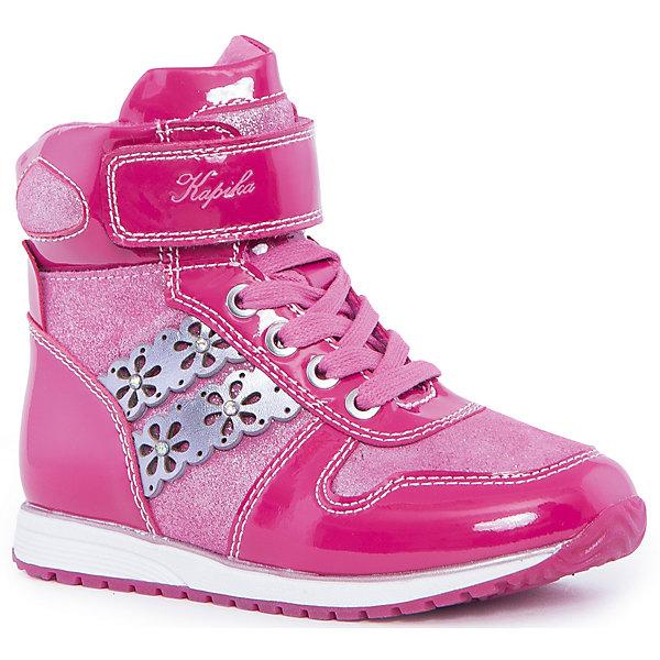 Ботинки для девочки KAPIKAБотинки<br>Ботинки для девочки KAPIKA – стиль, удобство и комфорт.<br>Красивые ботиночки из натуральной кожи сделаны со специальным супинатором, который делает носку комфортной. Стелька и подкладка также из натуральной кожи. Ботиночки застегиваются с помощью молнии. Можно регулировать полноту модели с помощью шнурков и липучки сверху.<br><br>Дополнительная информация:<br><br>- материал верха: натуральная кожа, микрофибра<br>- материал подкладки: утепленный текстиль<br>- цвет: розовые<br><br>Ботинки для девочки KAPIKA можно купить в нашем интернет магазине.<br><br>Ширина мм: 262<br>Глубина мм: 176<br>Высота мм: 97<br>Вес г: 427<br>Цвет: розовый<br>Возраст от месяцев: 24<br>Возраст до месяцев: 36<br>Пол: Женский<br>Возраст: Детский<br>Размер: 26,27,29,25,28<br>SKU: 4988041