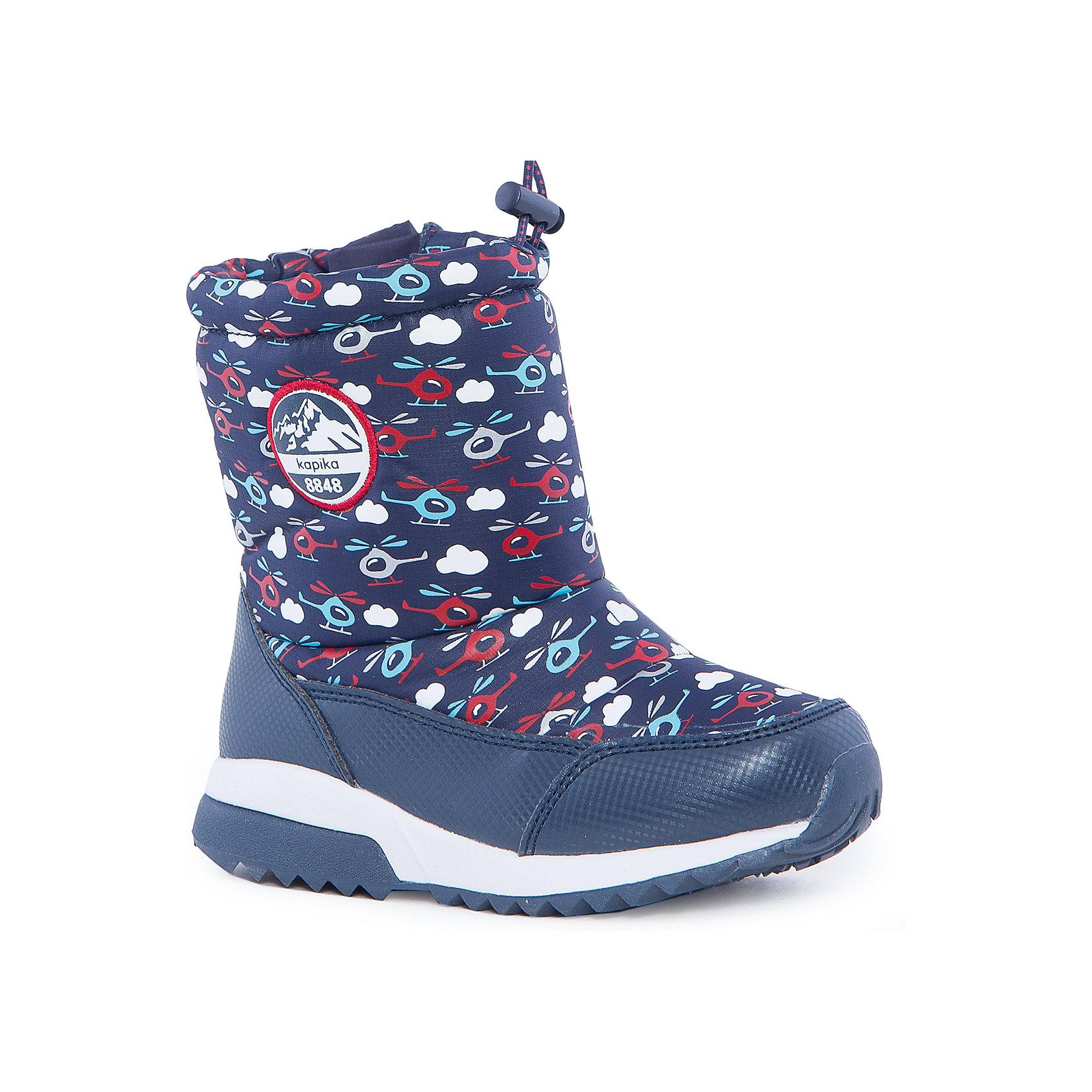 Полусапоги для мальчика KAPIKAПолусапоги для мальчика KAPIKA.<br><br>Температурный режим: до -20 градусов. Степень утепления – средняя. <br><br>* Температурный режим указан приблизительно — необходимо, прежде всего, ориентироваться на ощущения ребенка. <br><br>Сапоги-дутики защитят ноги малыша от снега и дождя. Благодаря теплому меху внутри их можно носить даже в очень холодную погоду. Подошва сделана с противоскользящим эффектом. Сверху есть резинка-утяжка, которая не даст влаге проникнуть через верх. <br><br>Дополнительная информация:<br><br>- материал верха: искусственная кожа, текстиль<br>- материал подкладки: 80% шерсть, 20% искусственный мех<br>- цвет: синий<br><br>Полусапоги для мальчика KAPIKA можно купить в нашем интернет магазине.<br><br>Ширина мм: 257<br>Глубина мм: 180<br>Высота мм: 130<br>Вес г: 420<br>Цвет: красный/синий<br>Возраст от месяцев: 24<br>Возраст до месяцев: 24<br>Пол: Мужской<br>Возраст: Детский<br>Размер: 25,23,27,26,24<br>SKU: 4988172