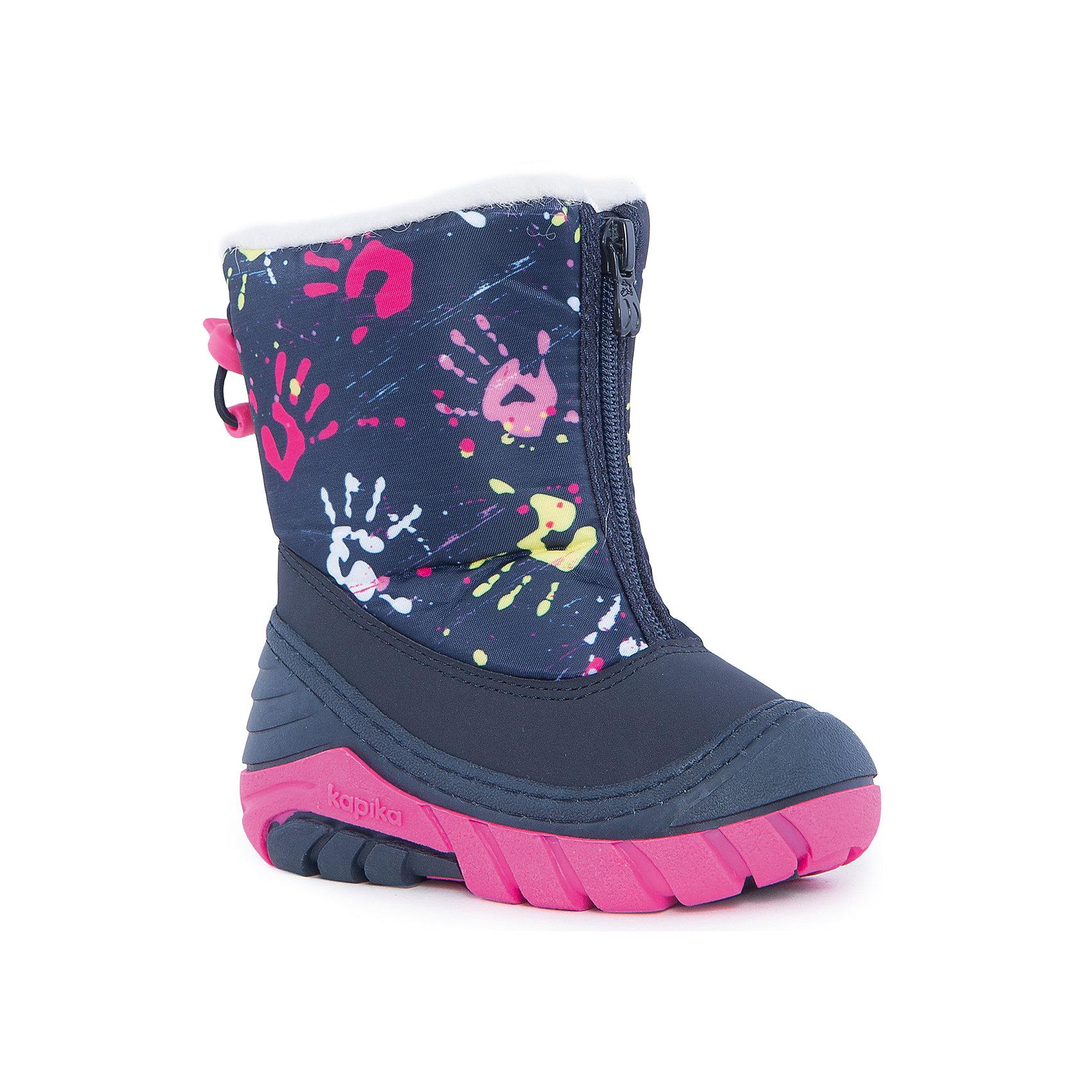 Полусапоги для девочки KAPIKAПолусапоги для девочки KAPIKA.<br><br>Температурный режим: до -20 градусов. Степень утепления – средняя. <br><br>* Температурный режим указан приблизительно — необходимо, прежде всего, ориентироваться на ощущения ребенка. <br><br>Сапоги-дутики защитят ноги малыша от снега и дождя. Благодаря теплому меху внутри их можно носить даже в очень холодную погоду. Подошва сделана с противоскользящим эффектом. Сапоги имеют форму цельного валенка, вклеенного в сапоги-галоши. Это дает дополнительную защиту от влаги и холода. Застегиваются на молнию спереди.<br><br>Дополнительная информация:<br><br>- материал верха: искусственная кожа, текстиль<br>- материал подкладки: 80% шерсть, 20% искусственный мех<br><br>Полусапоги для девочки KAPIKA можно купить в нашем интернет магазине.<br><br>Ширина мм: 257<br>Глубина мм: 180<br>Высота мм: 130<br>Вес г: 420<br>Цвет: фиолетовый<br>Возраст от месяцев: 6<br>Возраст до месяцев: 9<br>Пол: Женский<br>Возраст: Детский<br>Размер: 24,23,22,21,20,19<br>SKU: 4988191