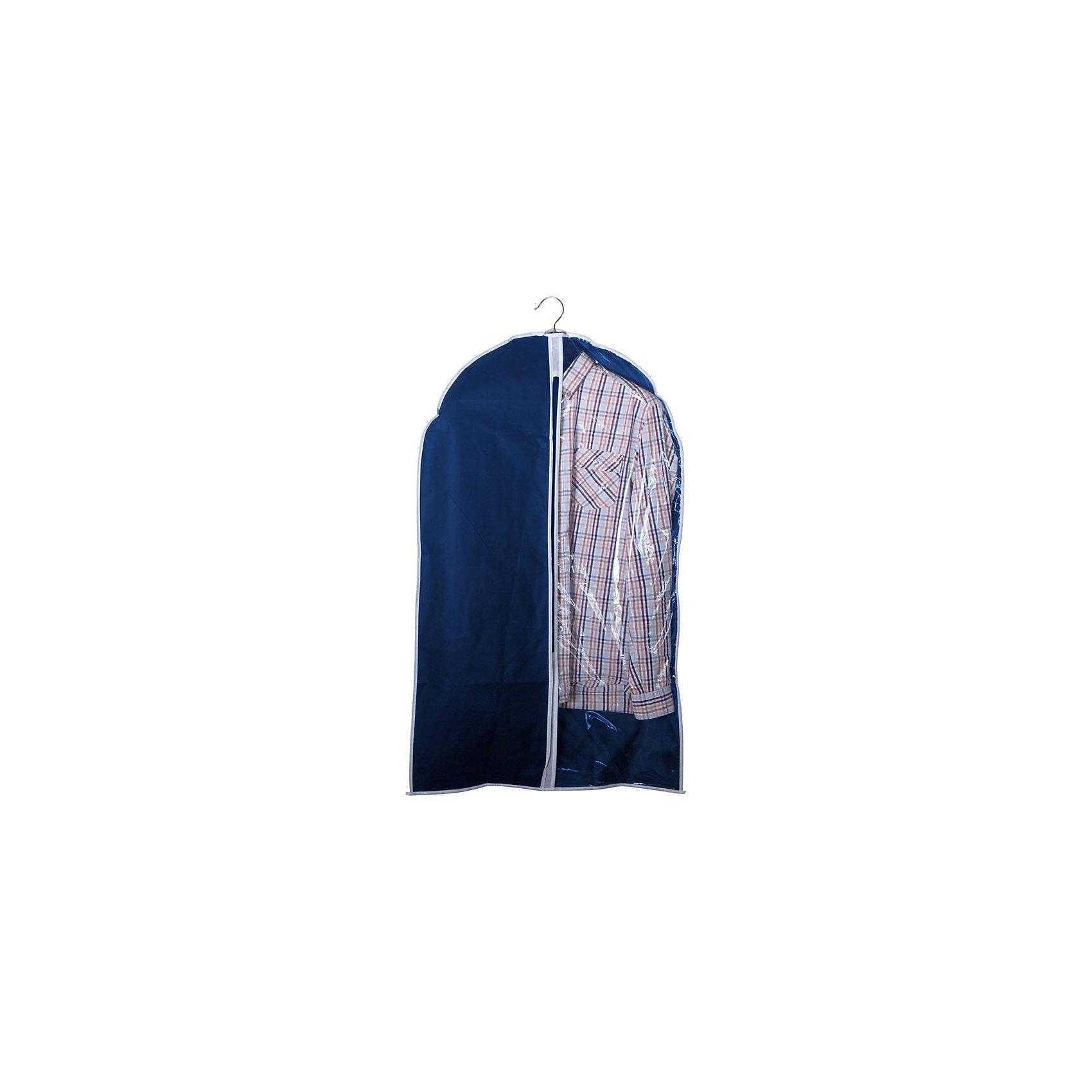 Чехол для одежды подвесной GCN-60*100, нетканка, 60*100см, Рыжий Кот, синийПодвесной чехол для одежды надежно защищает ваши вещи от насекомых, моли, влаги и пыли. Материал не электризуется. Прозрачное окошко для удобства. Дышаший материал идеально подходит для хранения изделий из кожи и меха. Застегивается на молнию. Для подвешивания в шкафу используется крючок.<br><br>Дополнительная информация:<br><br>Размер чехла: 60х100 см<br>Материал: 100% полипропилен (спанбонд), ПВХ<br>Плотность: спандбонд: 75gsm, пвх: 0,08мм<br><br>Чехол для одежды подвесной GCN-60*100, нетканка, 60*100см, Рыжий Кот, синий можно купить в нашем интернет-магазине.<br><br>Ширина мм: 320<br>Глубина мм: 217<br>Высота мм: 25<br>Вес г: 133<br>Возраст от месяцев: 36<br>Возраст до месяцев: 1080<br>Пол: Унисекс<br>Возраст: Детский<br>SKU: 4989817